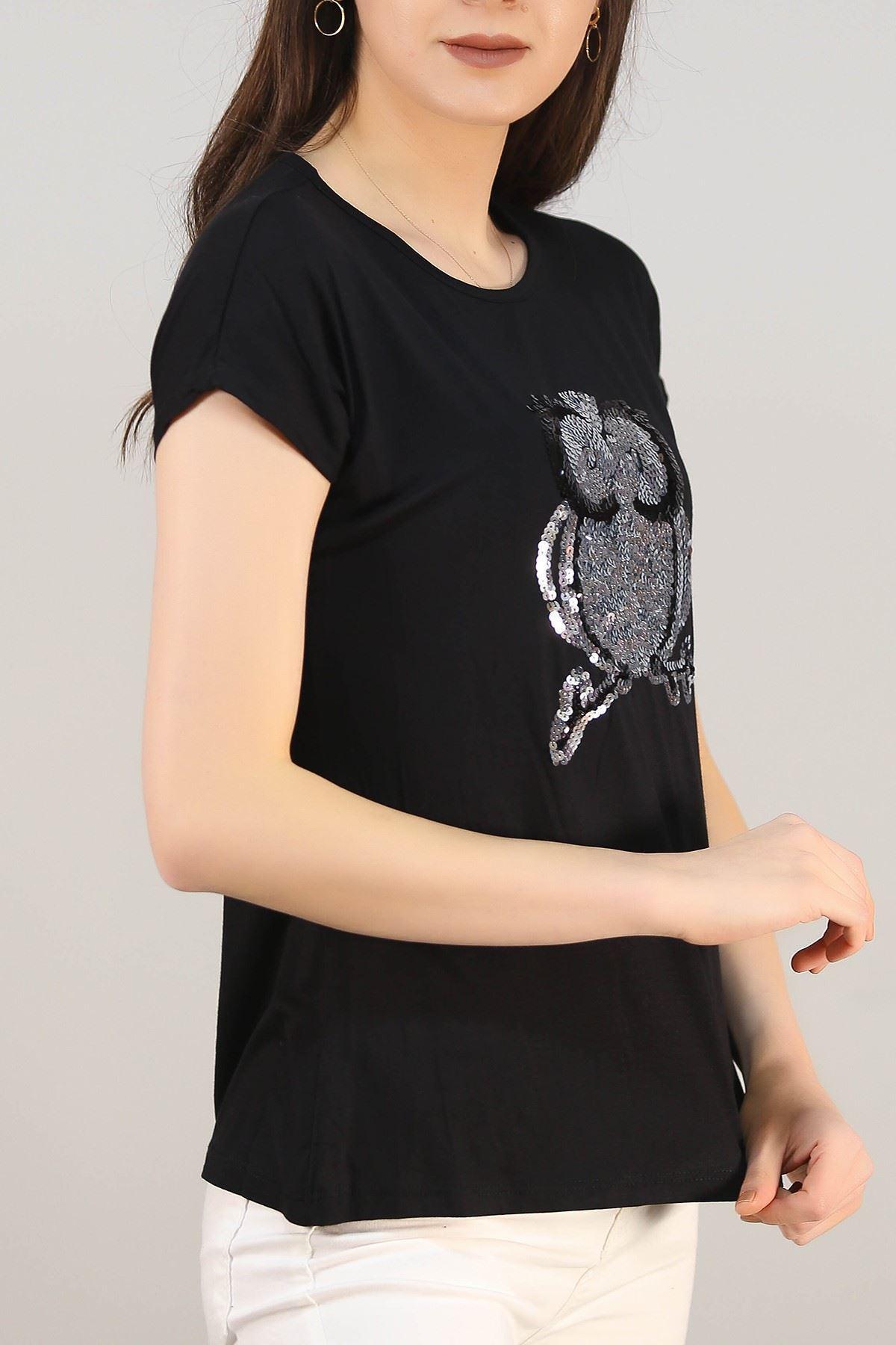Pullu Baykuş Tişört Siyah - 5030.139.