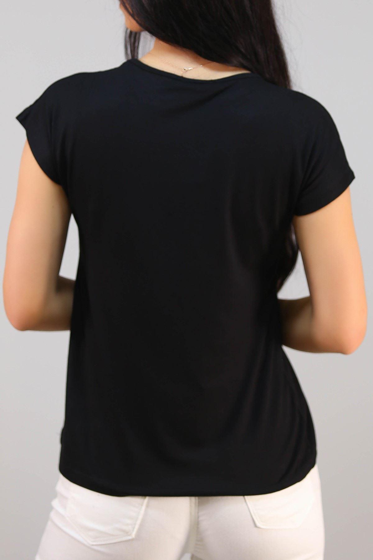 Quenn Baskı Tişört Siyah - 5052.139.