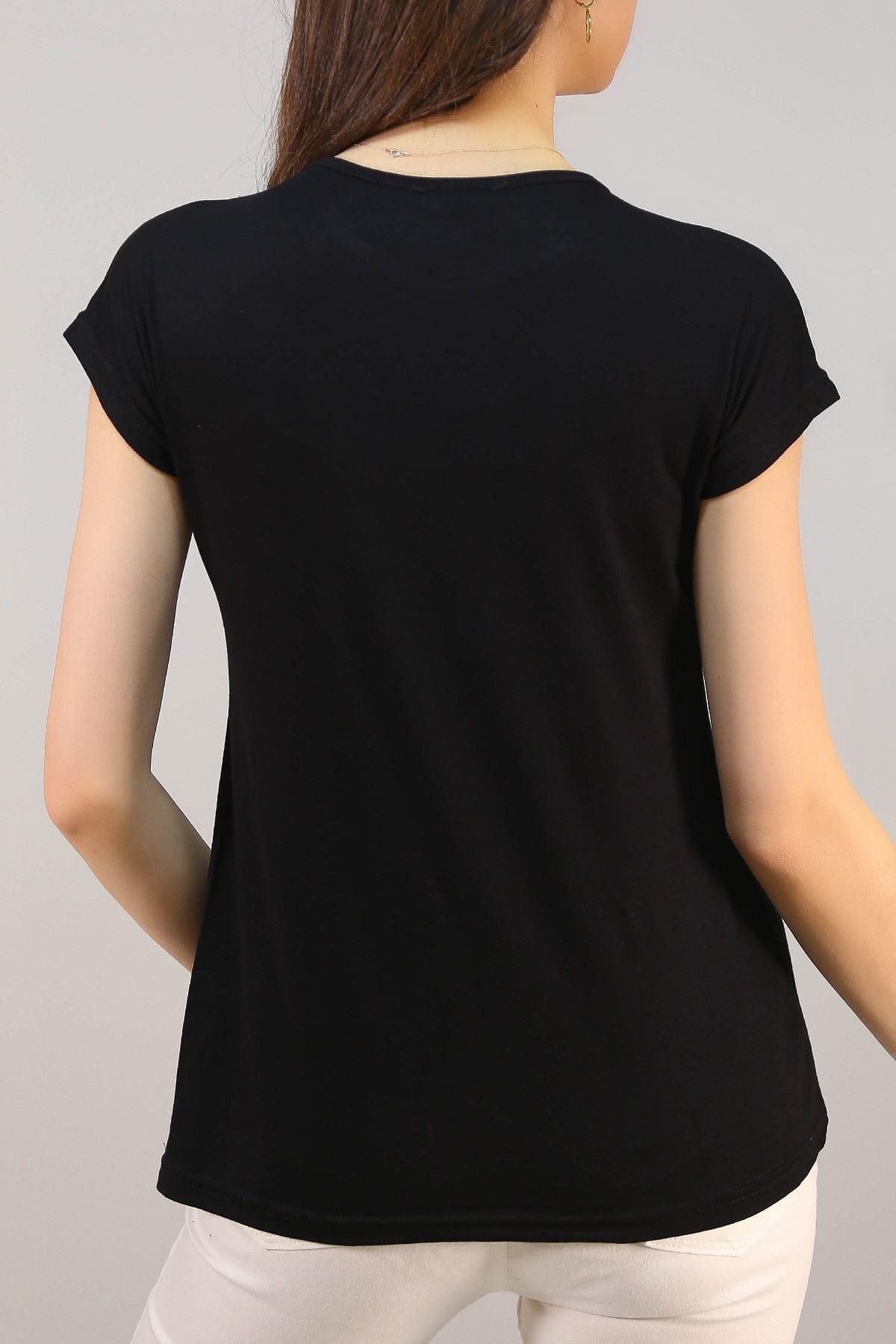 Baskılı Tişört Siyah - 5042.139.