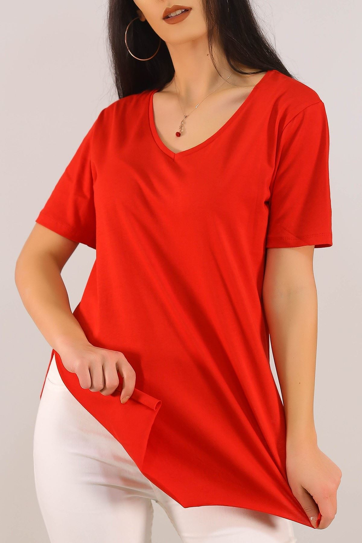 Penye Tunik Tişört Kırmızı - 1062.275.
