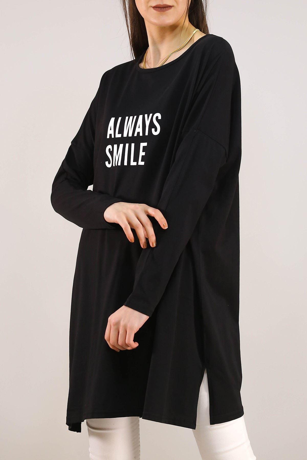 Always Baskılı Tunik Siyah - 2639.105.