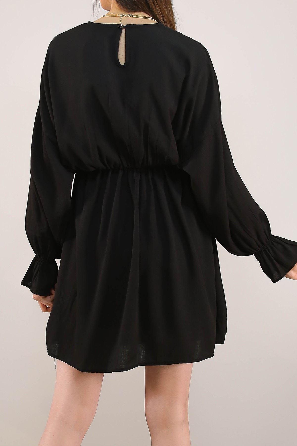 Dokuma Elbise Siyah - 5071.701.