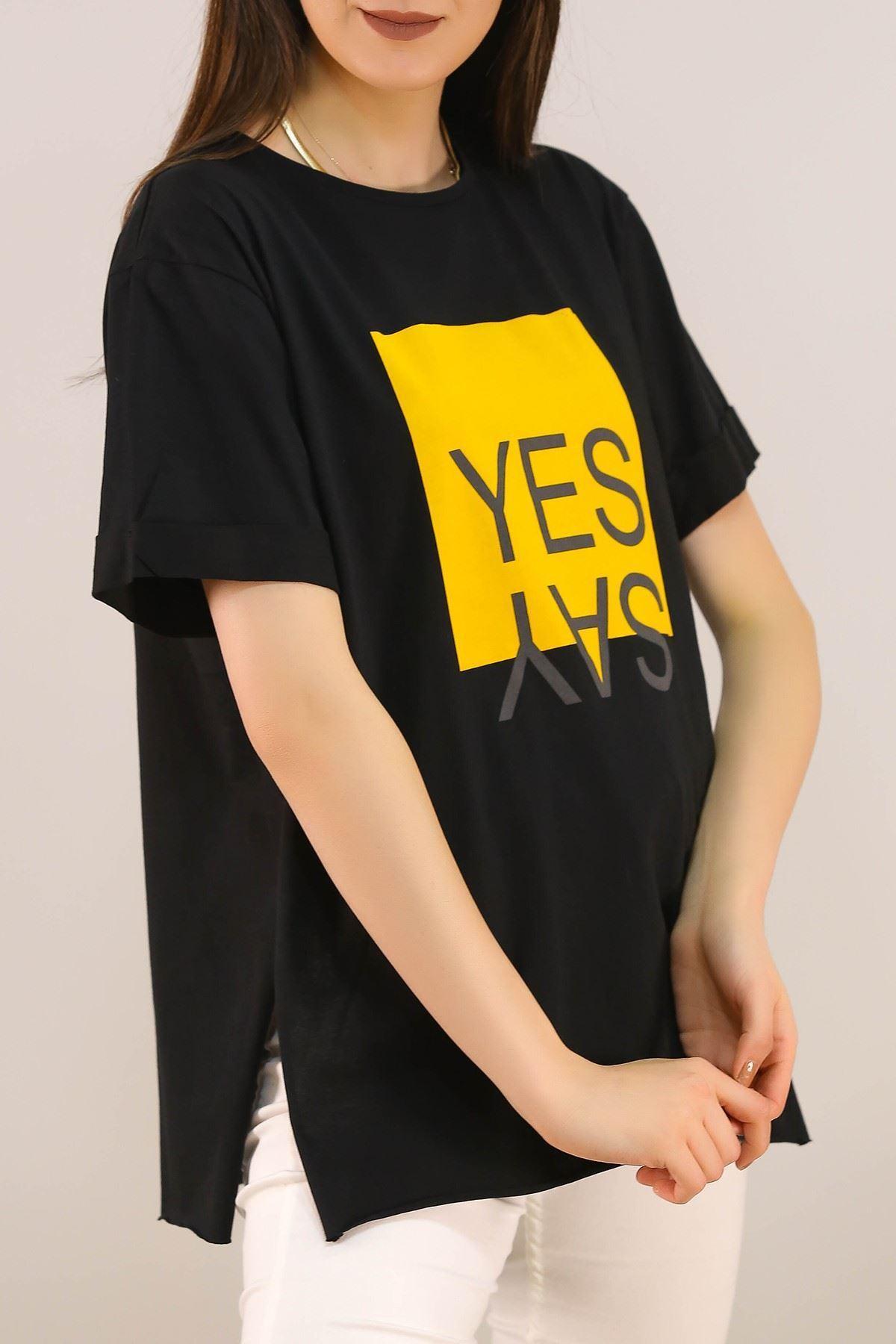Baskılı Tişört Siyah - 5078.275.