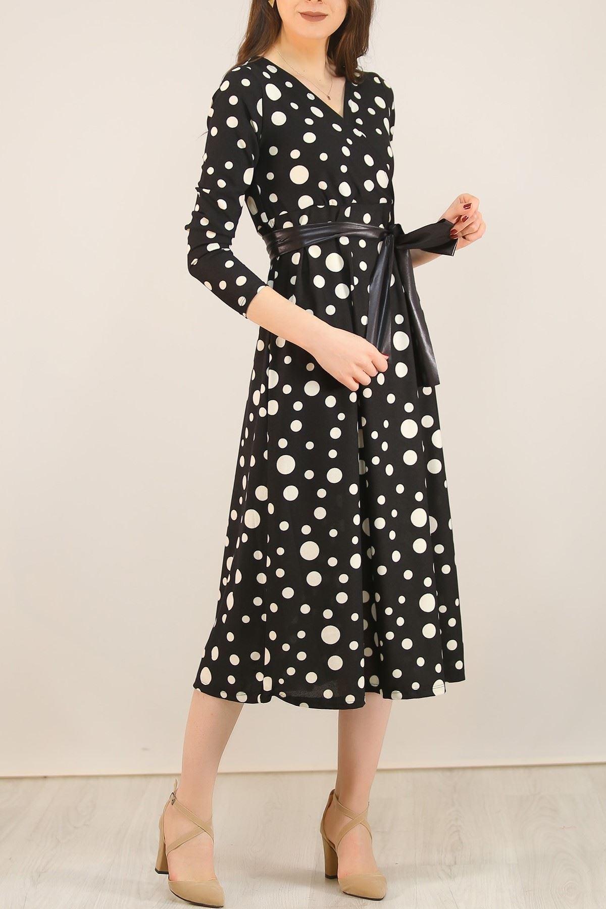 Desenli Elbise Siyahpuanlı - 5075.716.