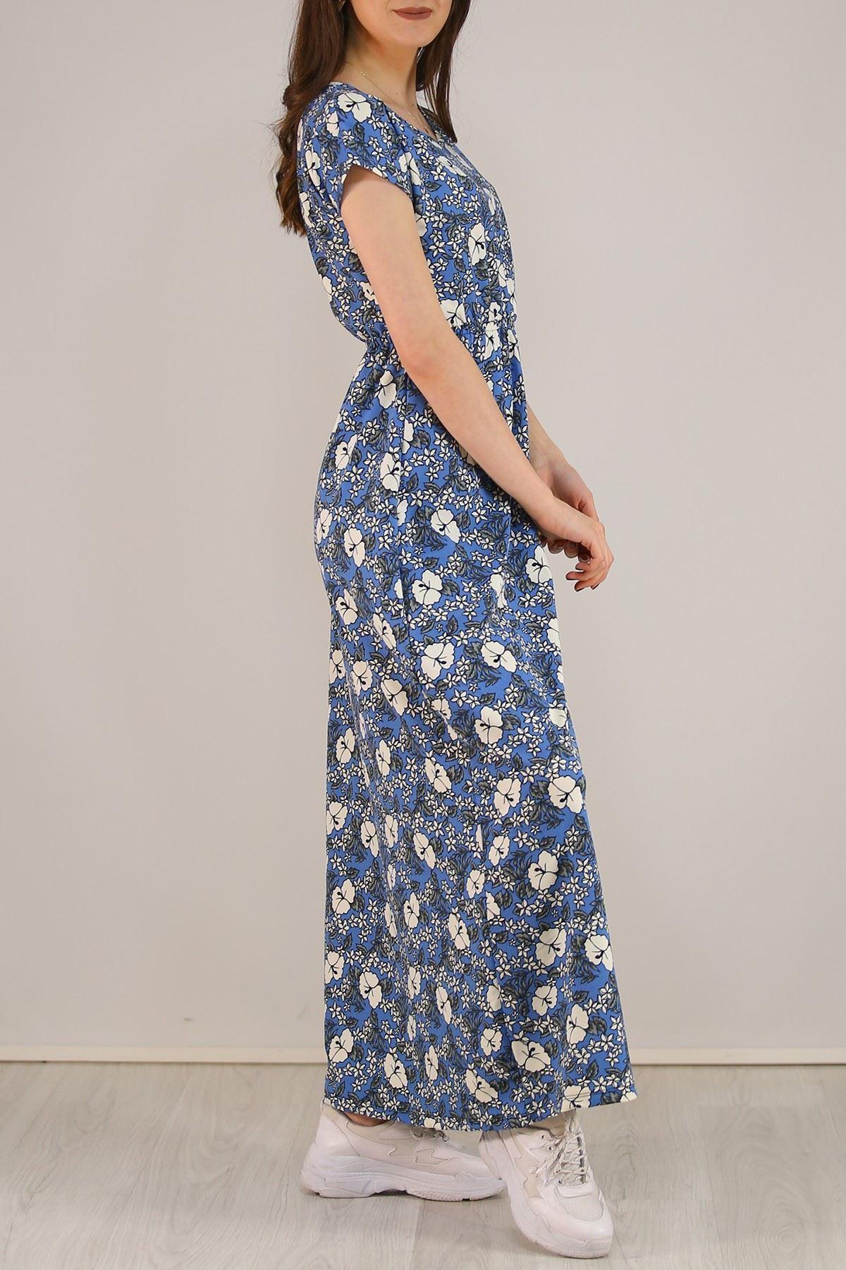 Desenli Elbise Mavi - 5088.716.