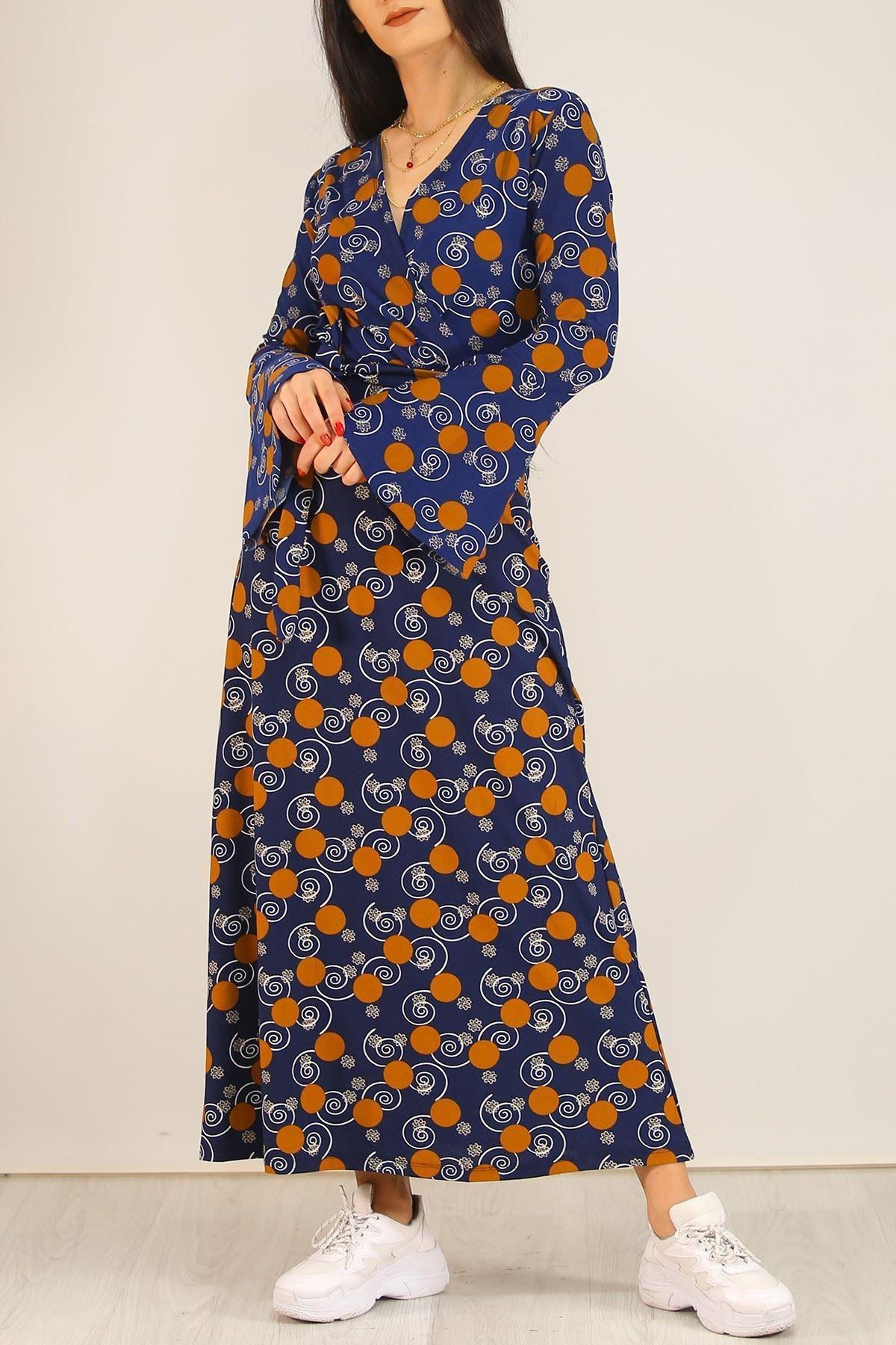 Desenli Elbise Lacidesenli - 5075.716.