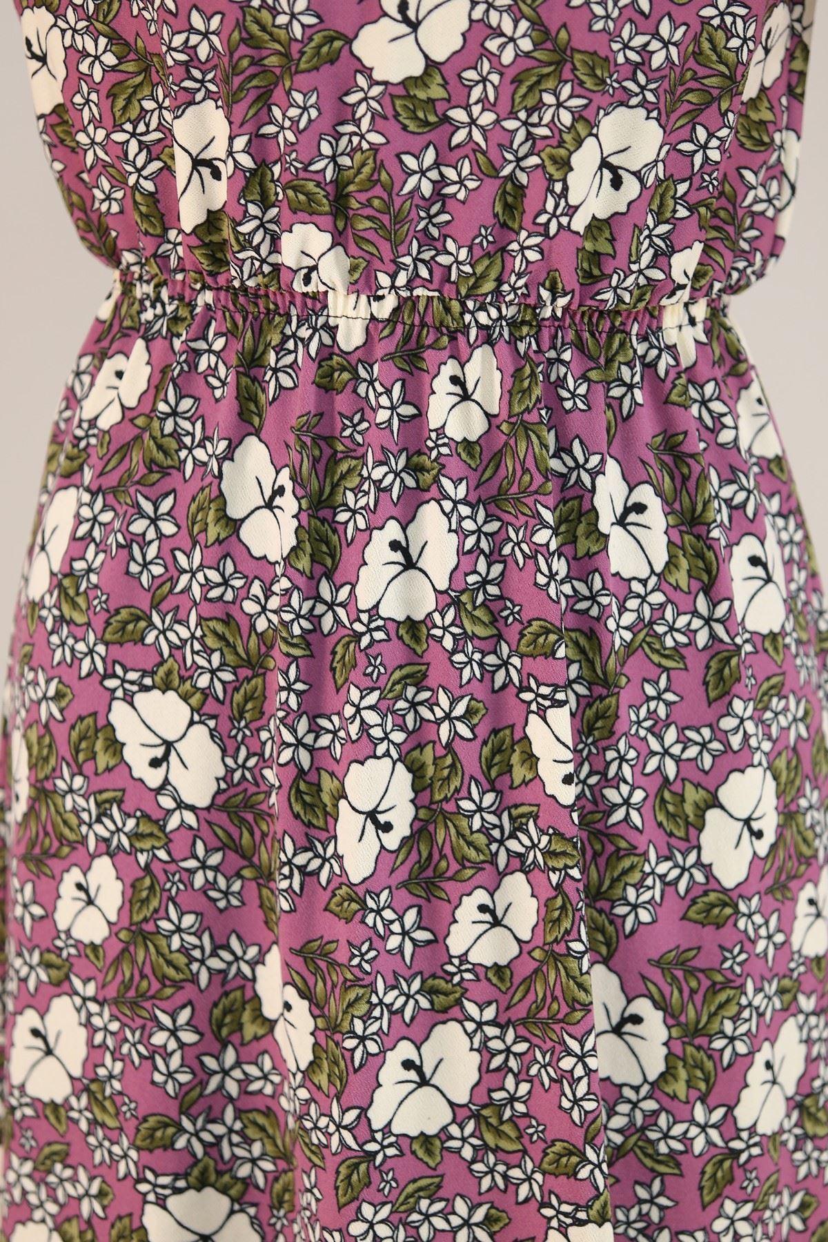 Desenli Elbise Mor - 5088.716.