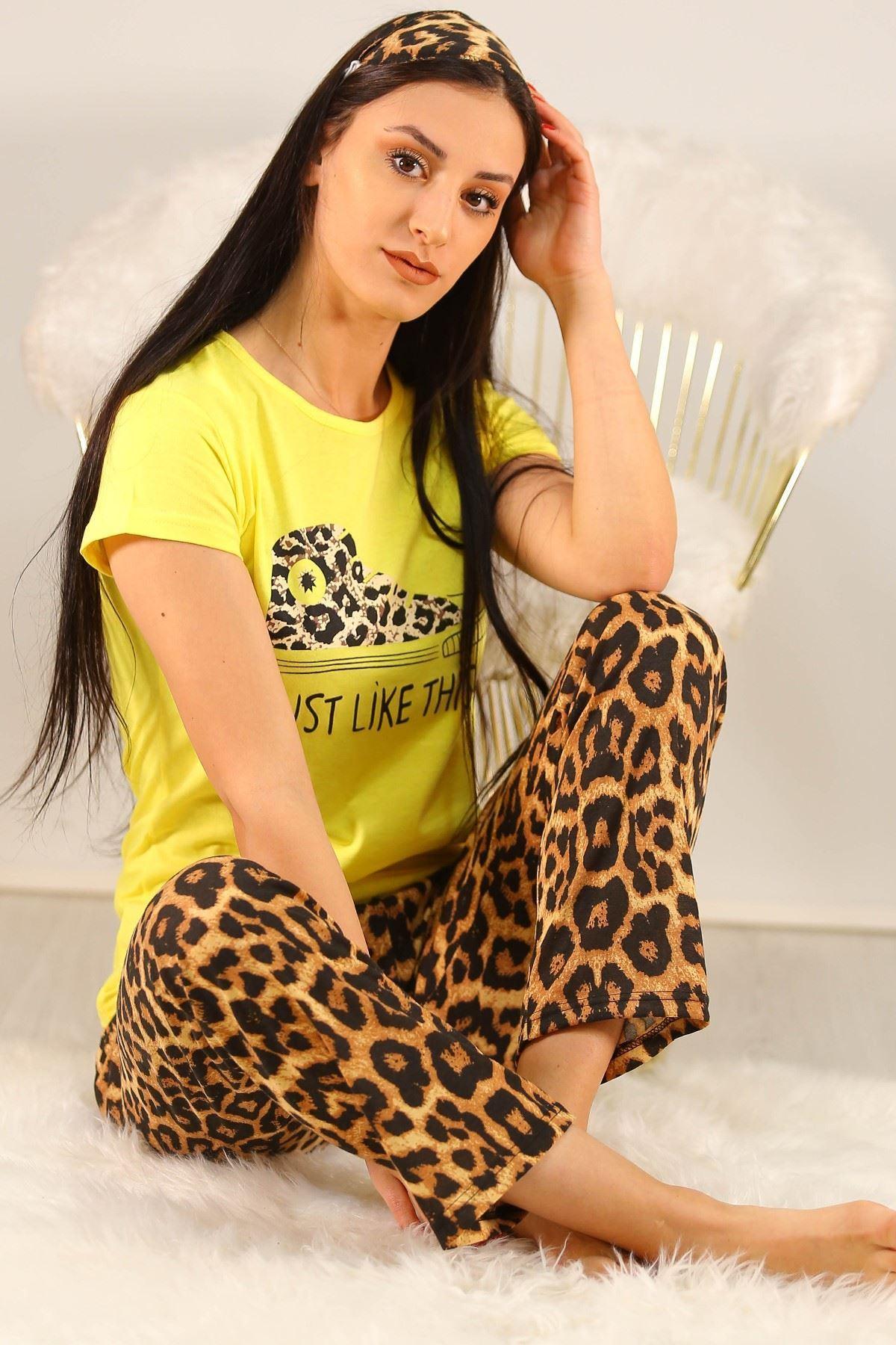 Baskılı Pijama Takımı Sarı - 5134.102.