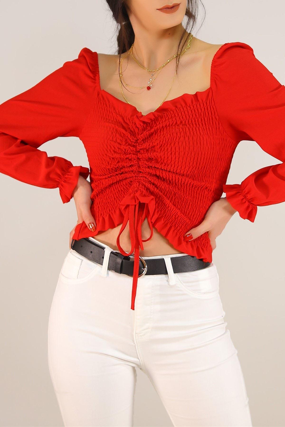 Gipeli Bluz Kırmızı - 8086.1234.