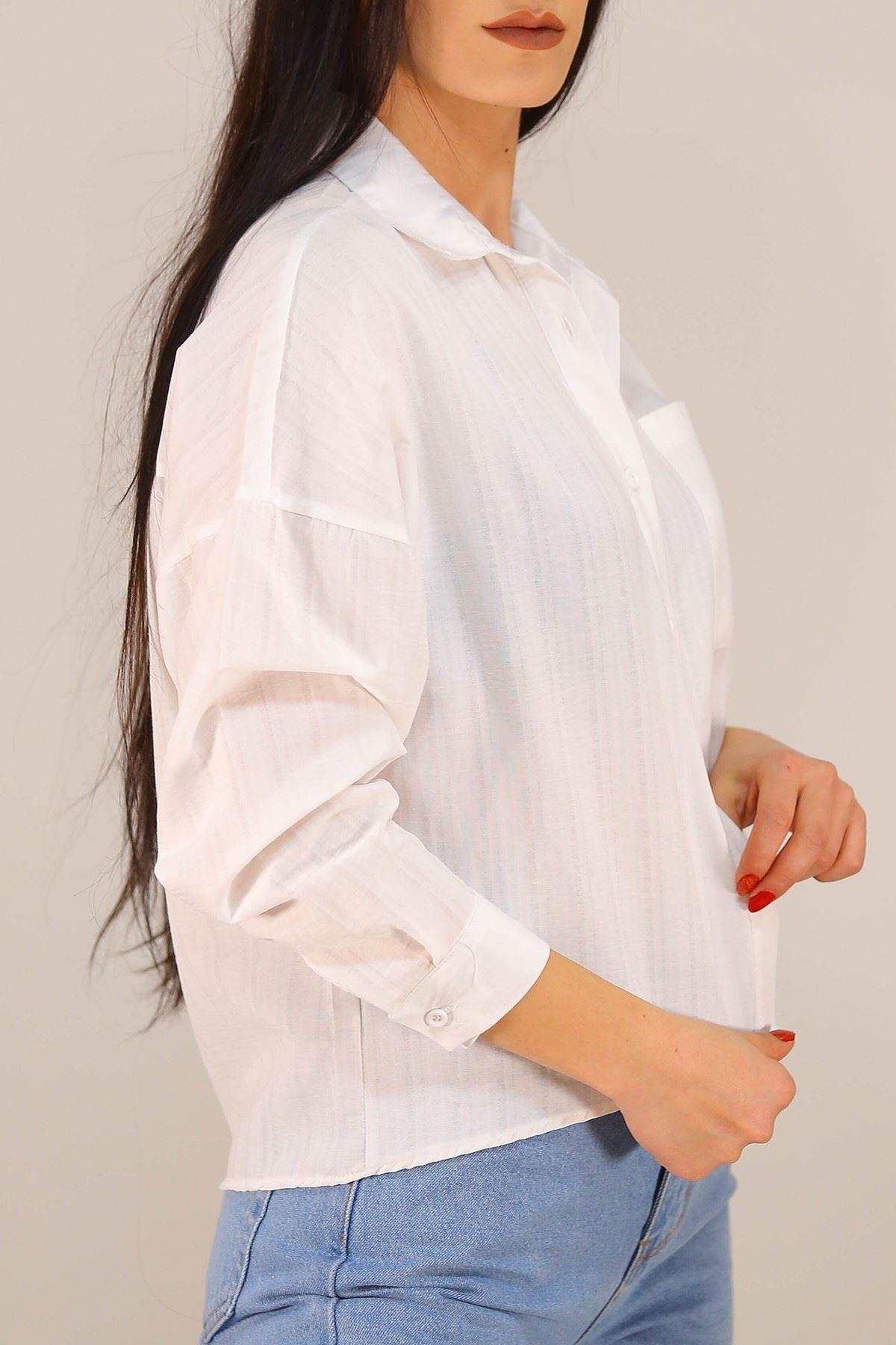 Cepli Gömlek Beyaz - 21135.101.
