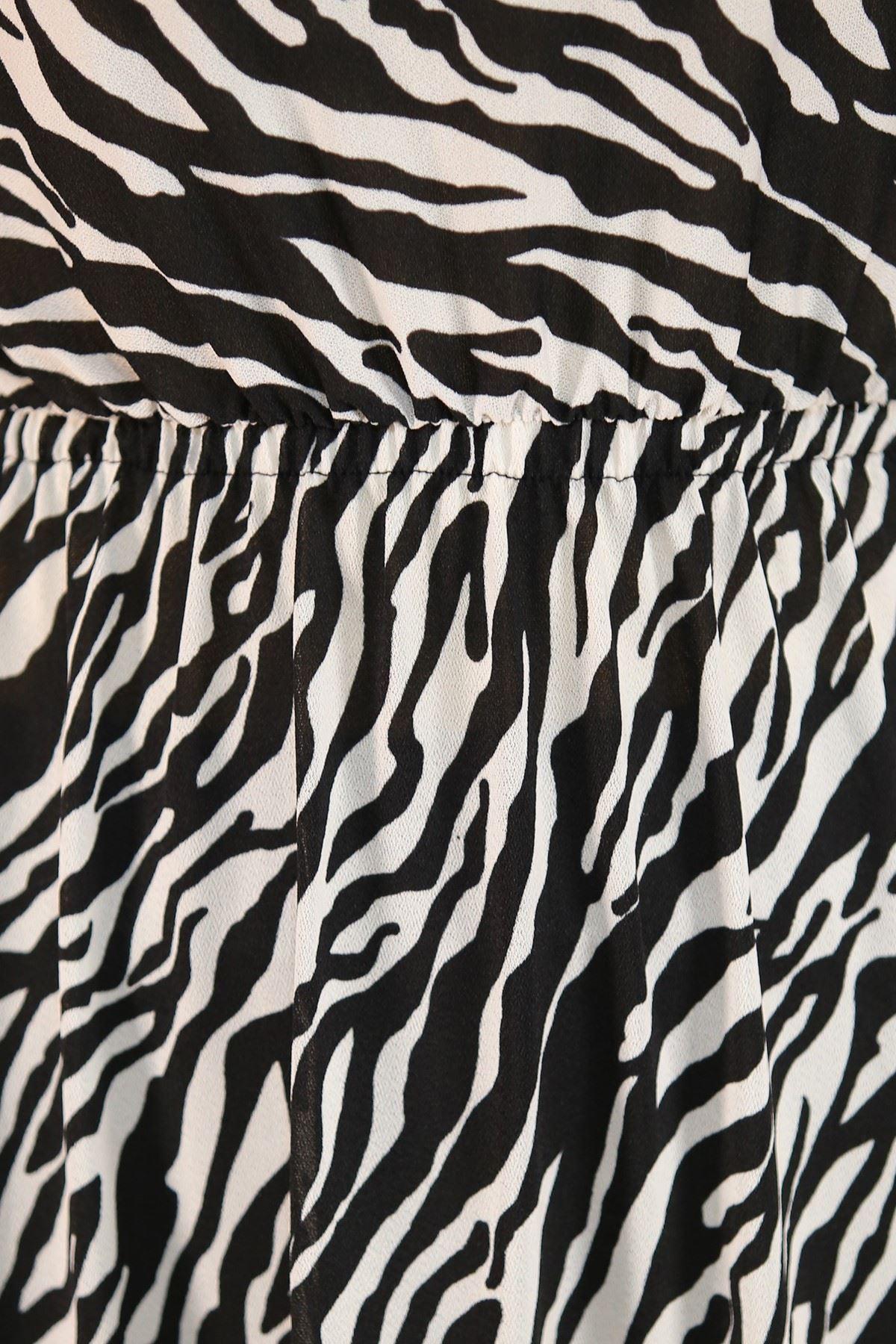 Desenli Elbise Zebra - 5088.716.