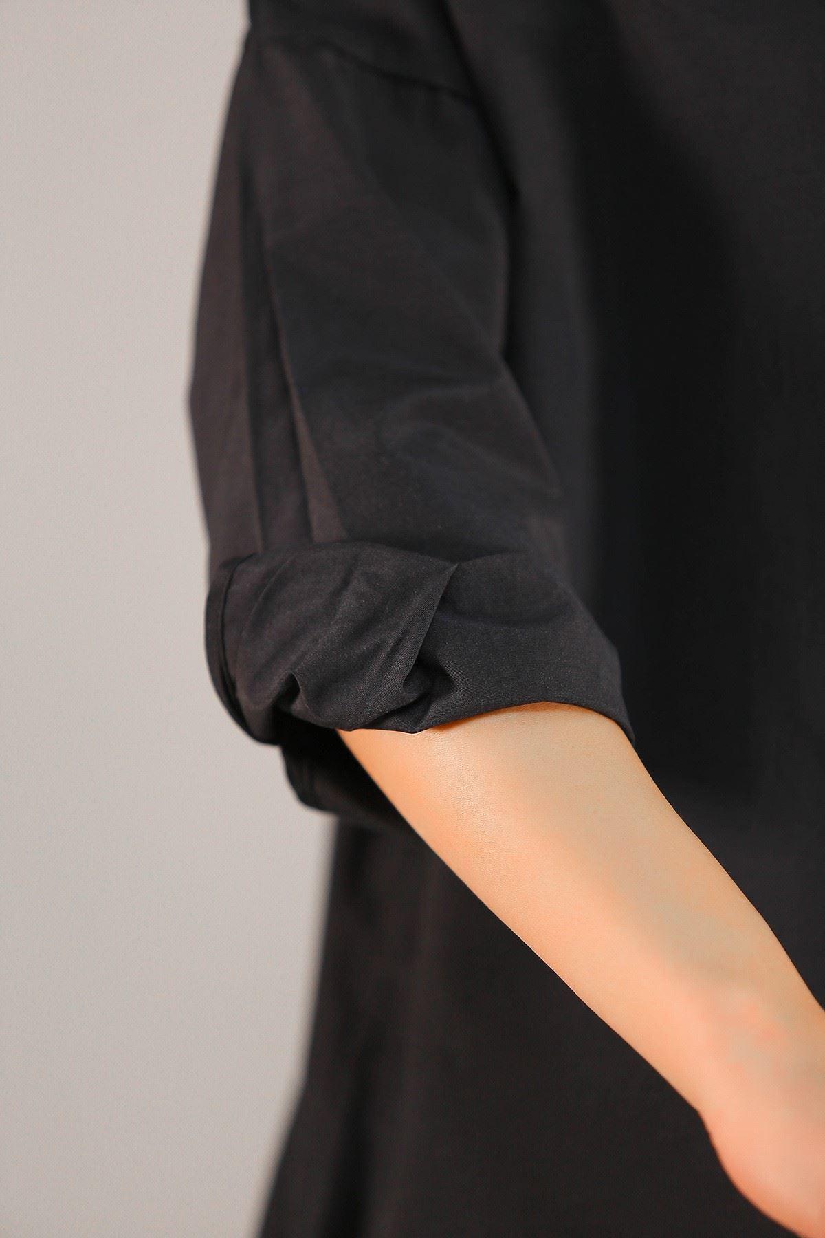 Fermuarlı Gömlek Siyah - 2580.105.