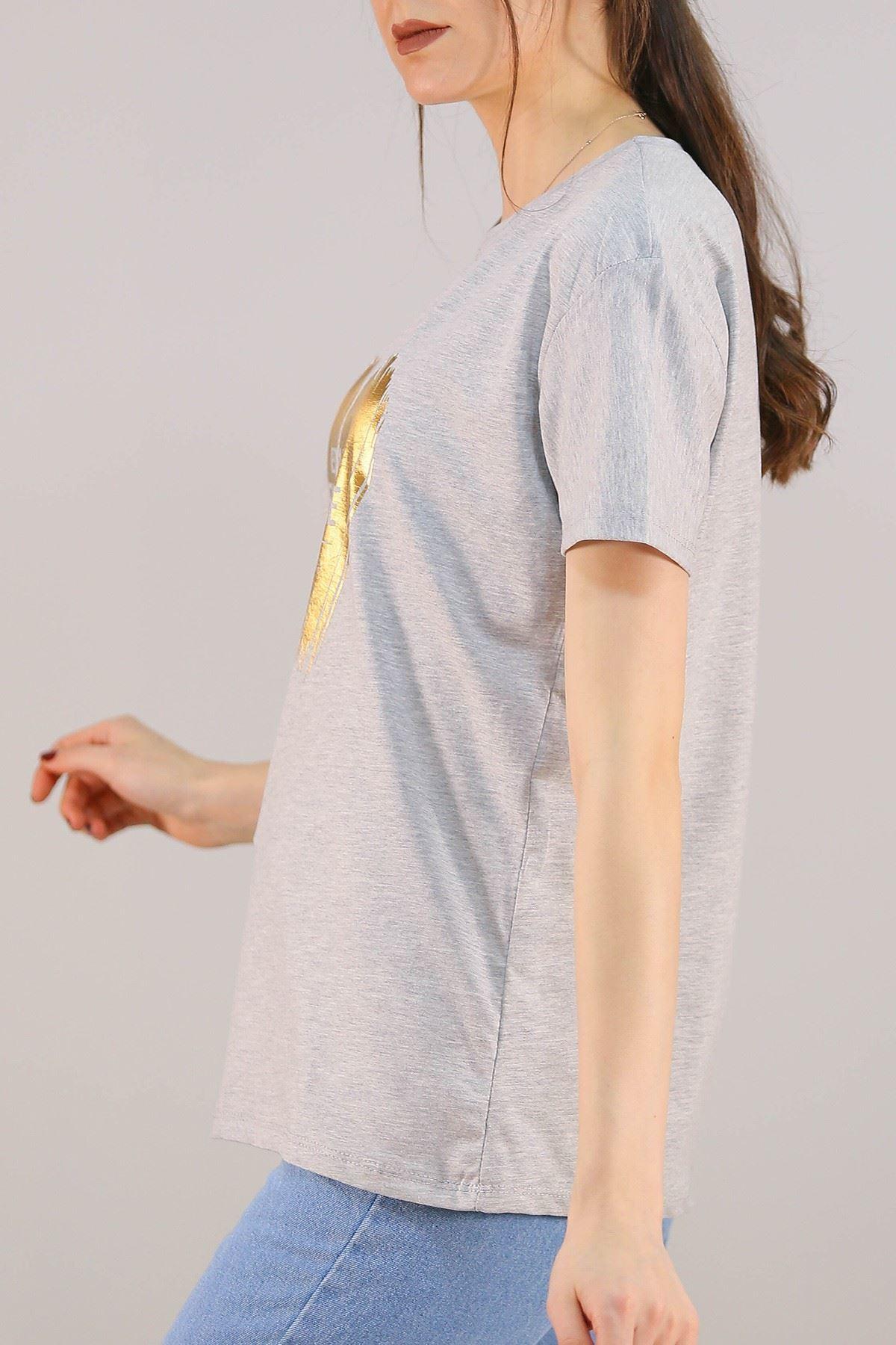 Baskılı Tişört Gri - 5009.336.