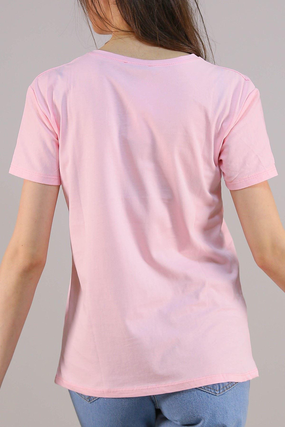Baskılı Tişört Pembe - 5009.336.
