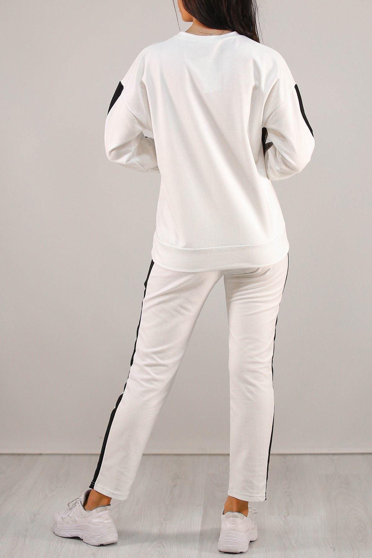 Official Baskılı Takım Beyaz - 5193.1254.