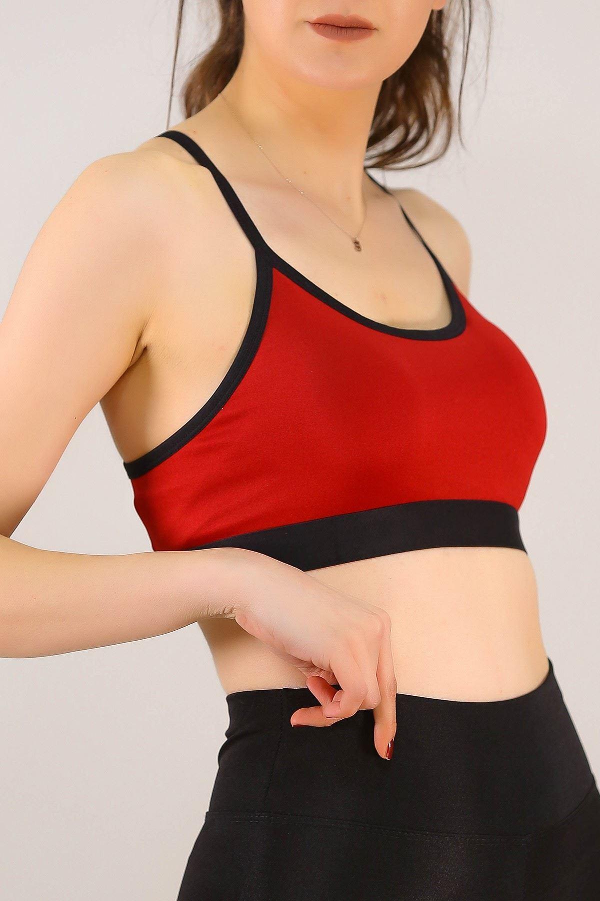 Kadın Büstiyer Askılı Spor Kırmızı - 9022.125.