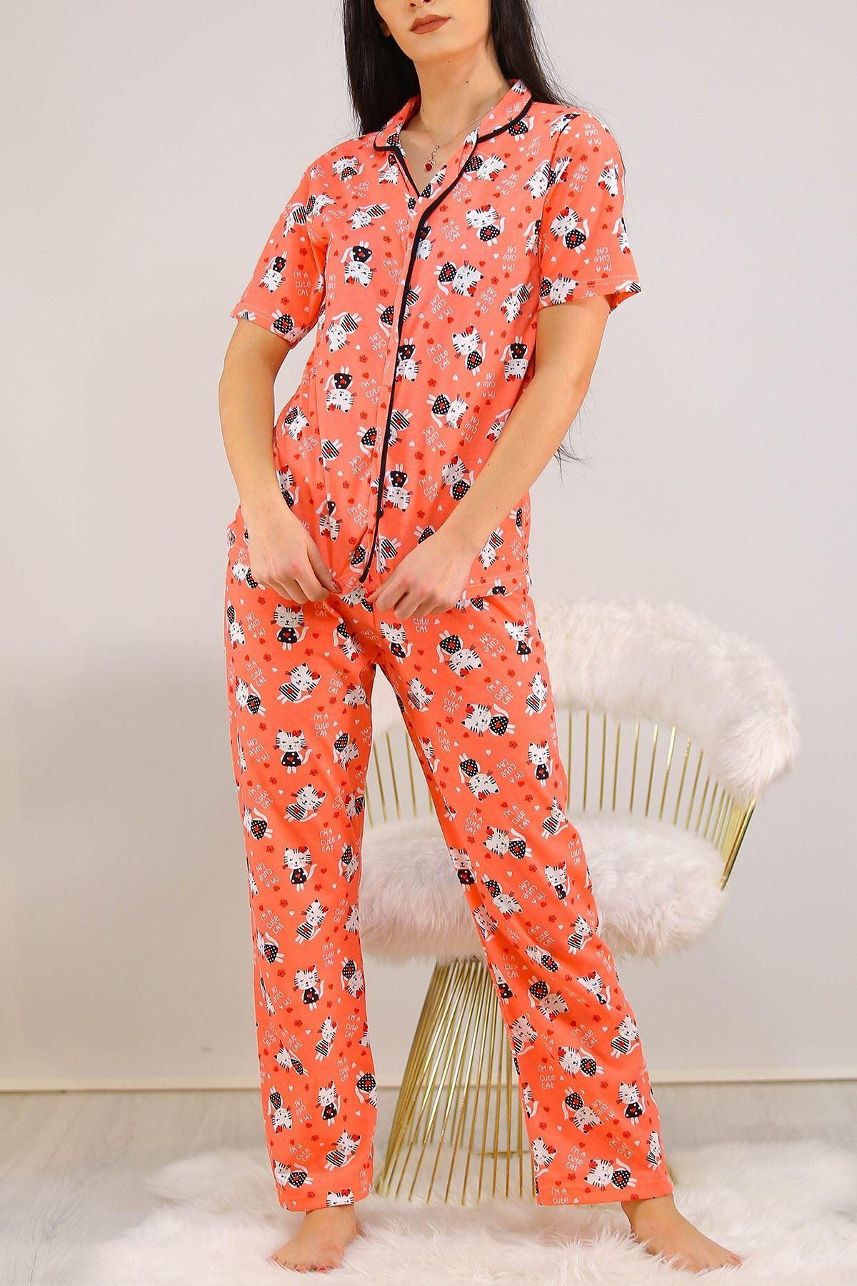 Düğmeli Pijama Takımı Yavruağzı - 4782.102.