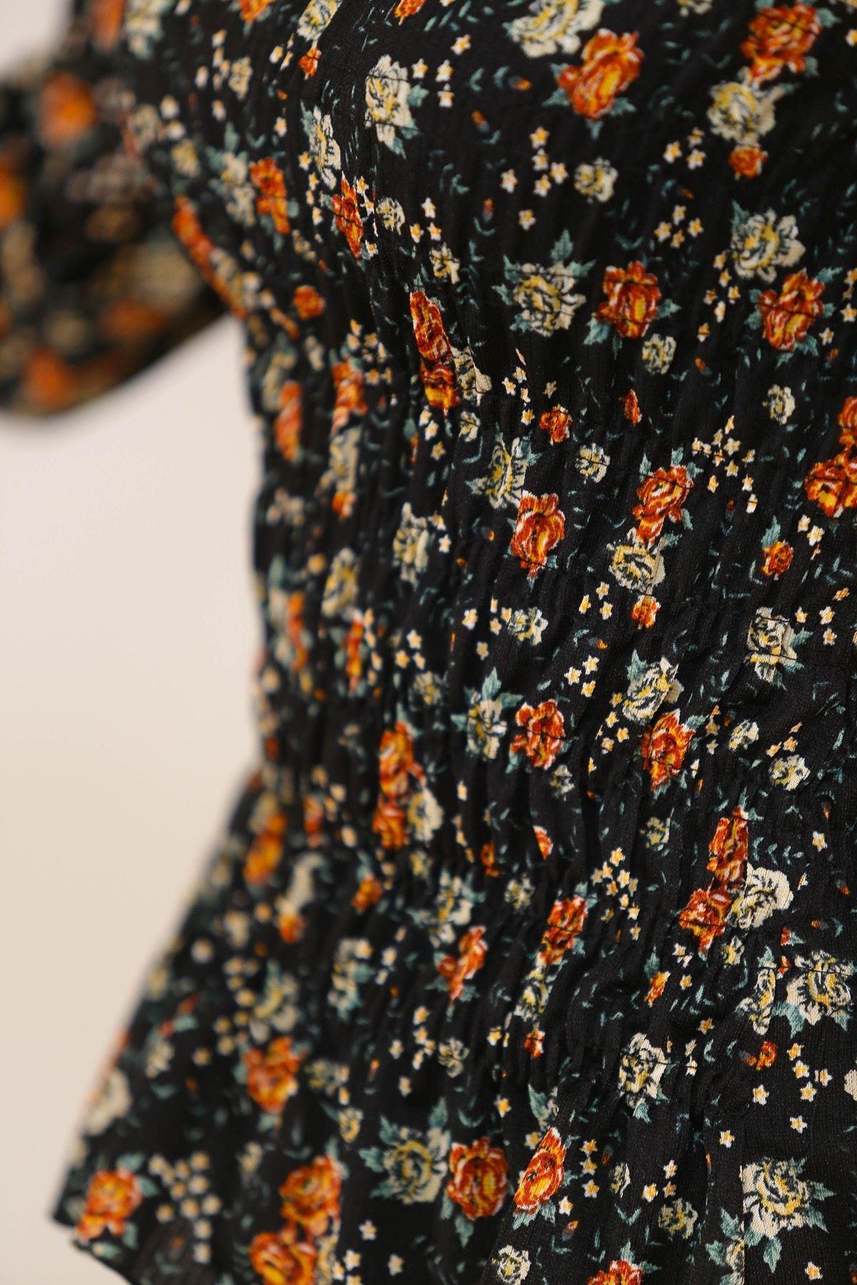 Gipeli Bluz Siyahçiçekli - 5203.224.