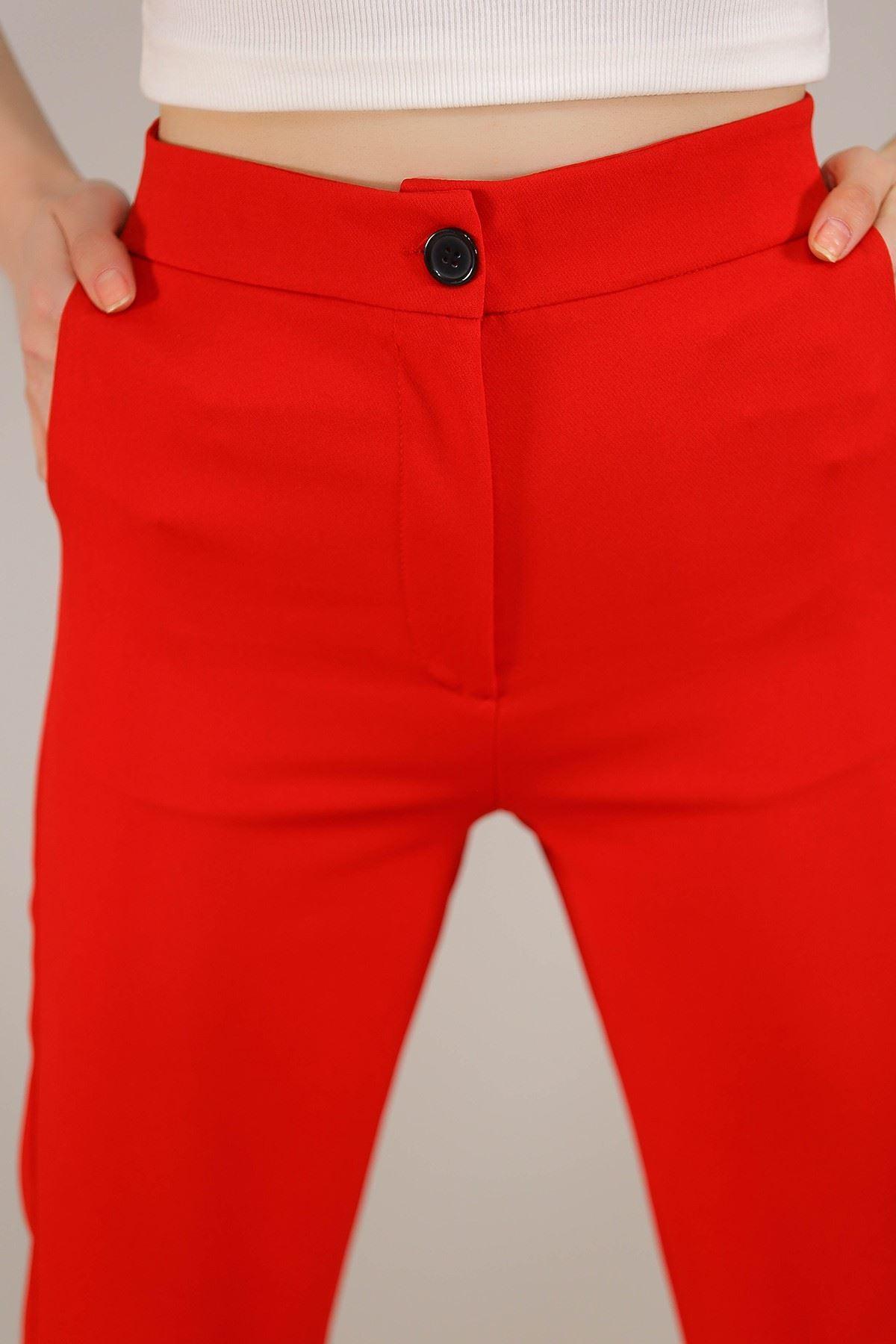 Lastikli Pantolon Kırmızı - 3672.222.