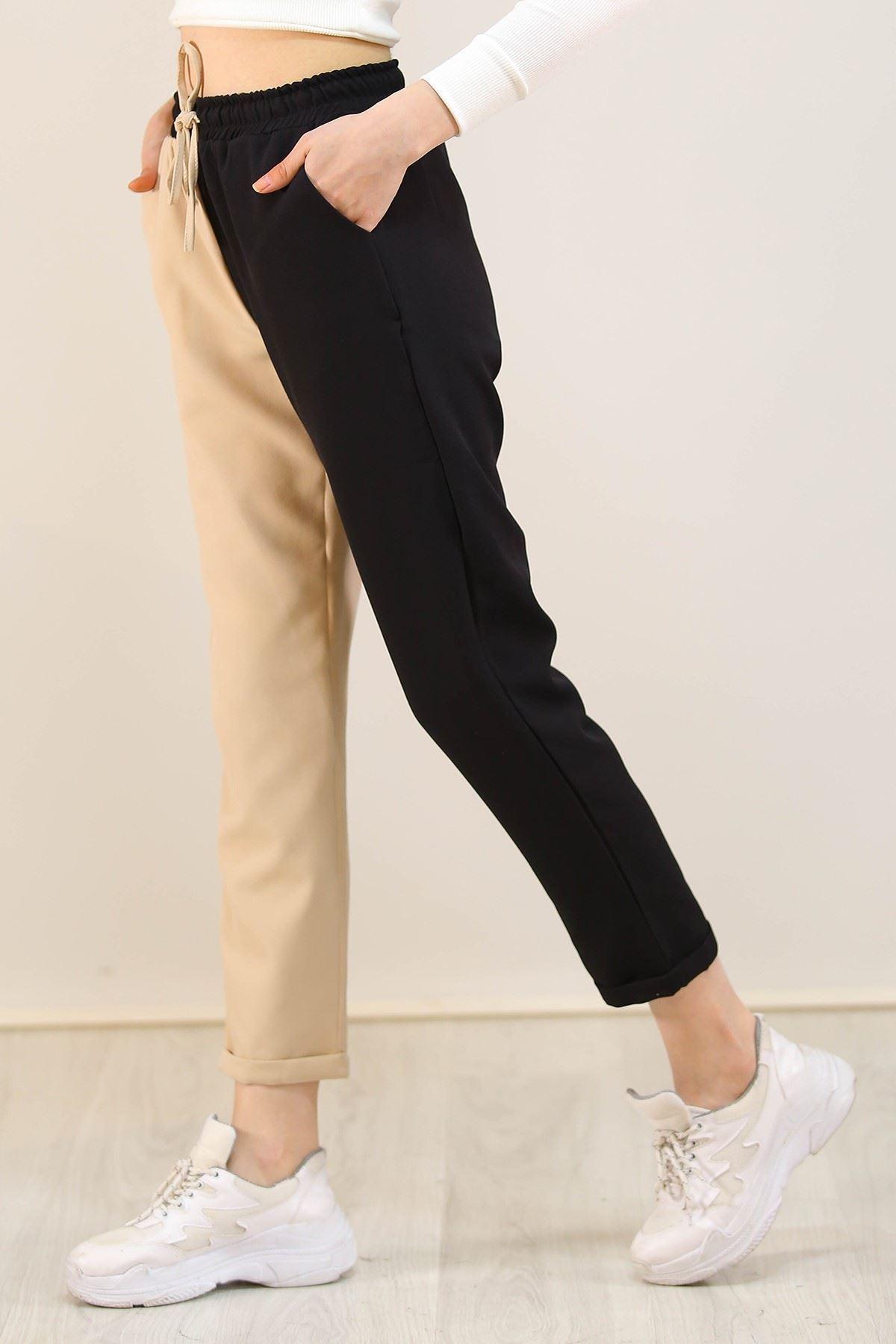 İki Renk Pantolon Taş - 3687.222.