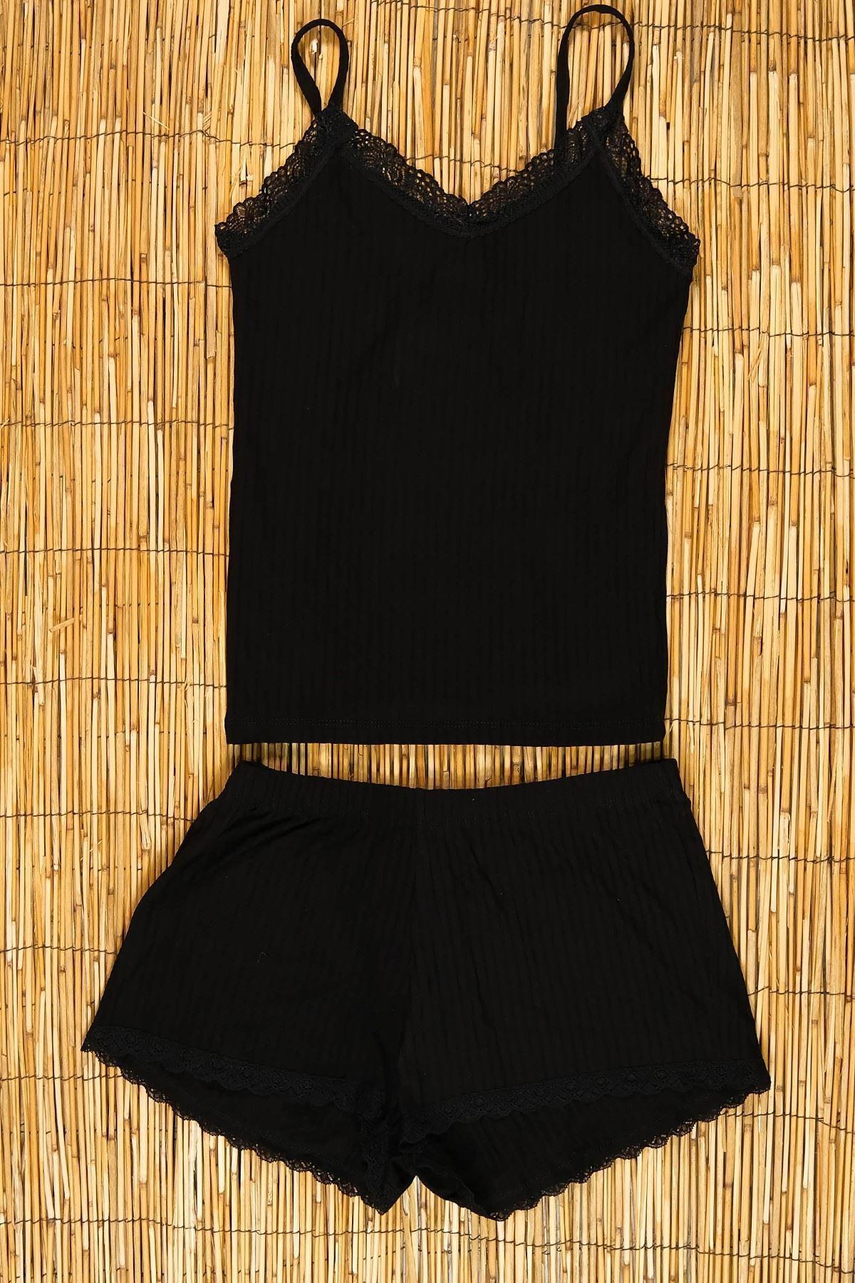 Dantelli İkili Takım Siyah - 5202.450.