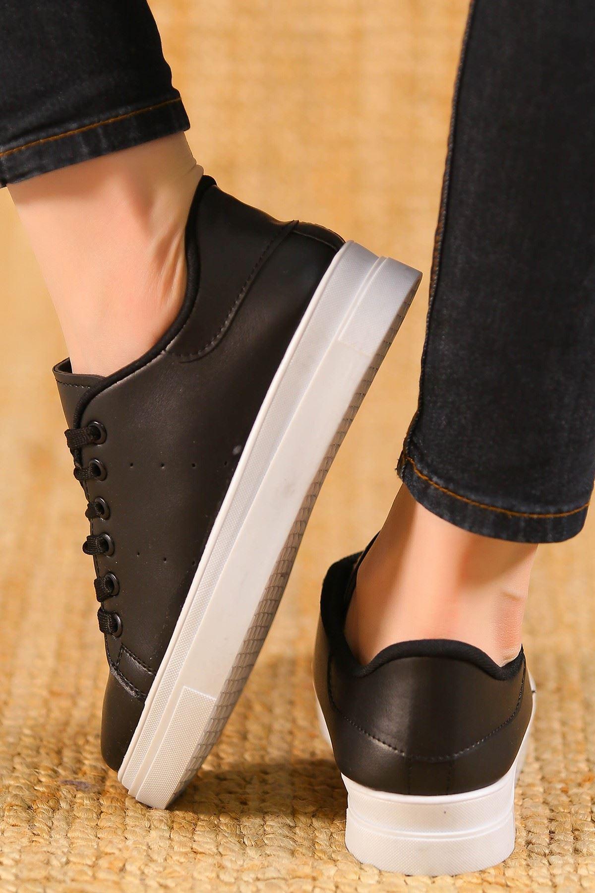 Kalın Tbn Günlük Ayakkabı Siyahbeyaz - 8585.264.