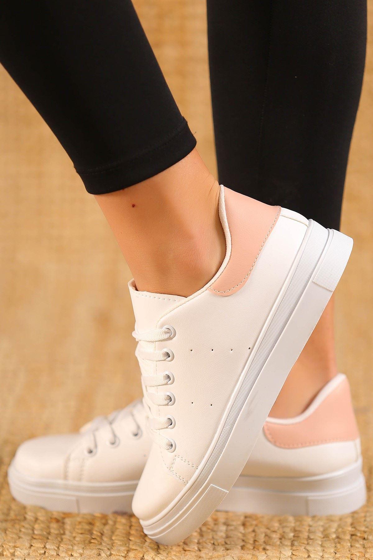Kalın Tbn Günlük Ayakkabı Beyazpudra - 8585.264.