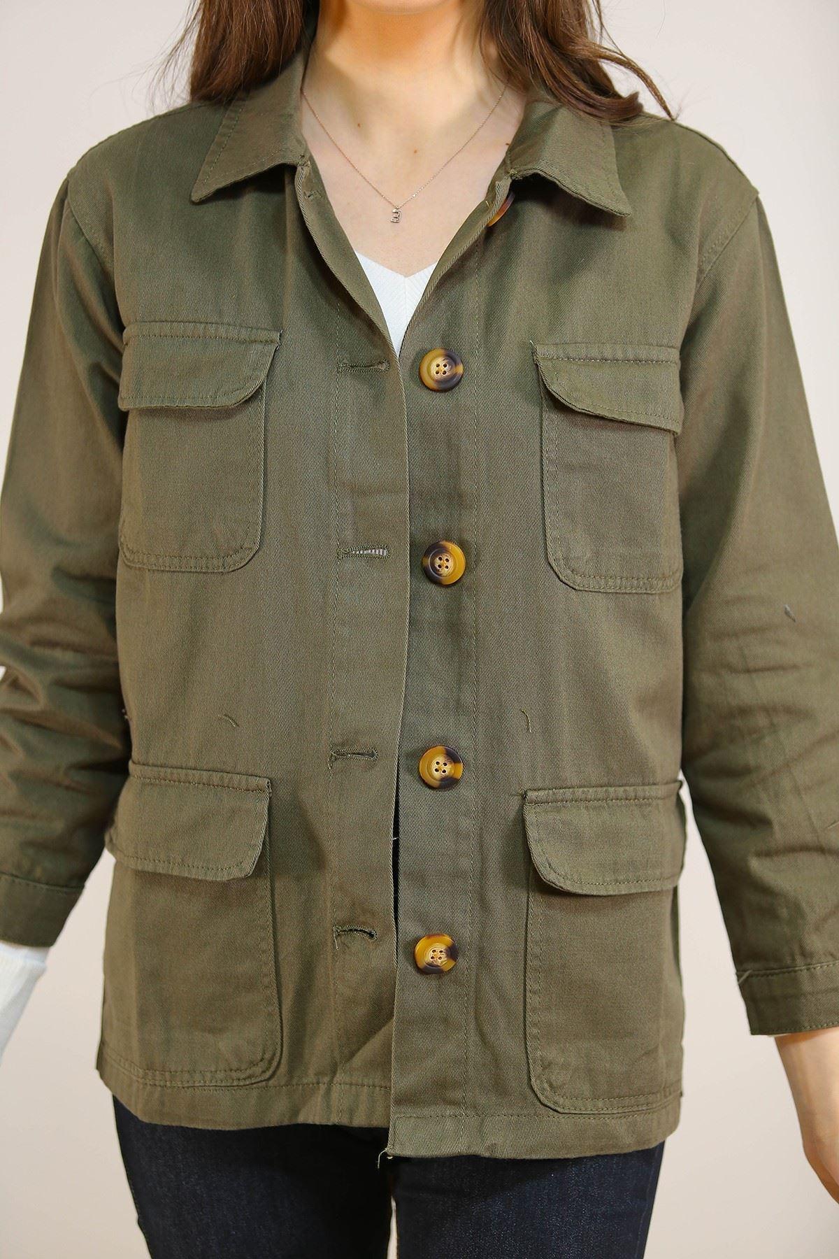 Gabardin Ceket Yeşil - 5233.299.
