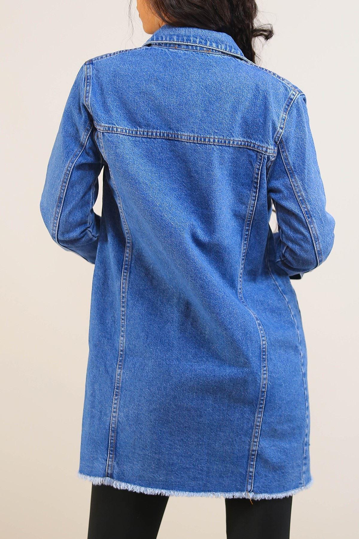 Tunik Kot Ceket Mavi - 5234.299.