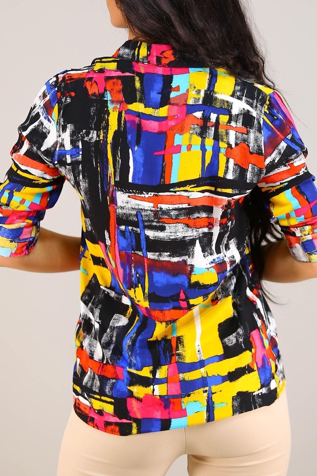 Desenli Gömlek Siyahdesenli - 5087.128.