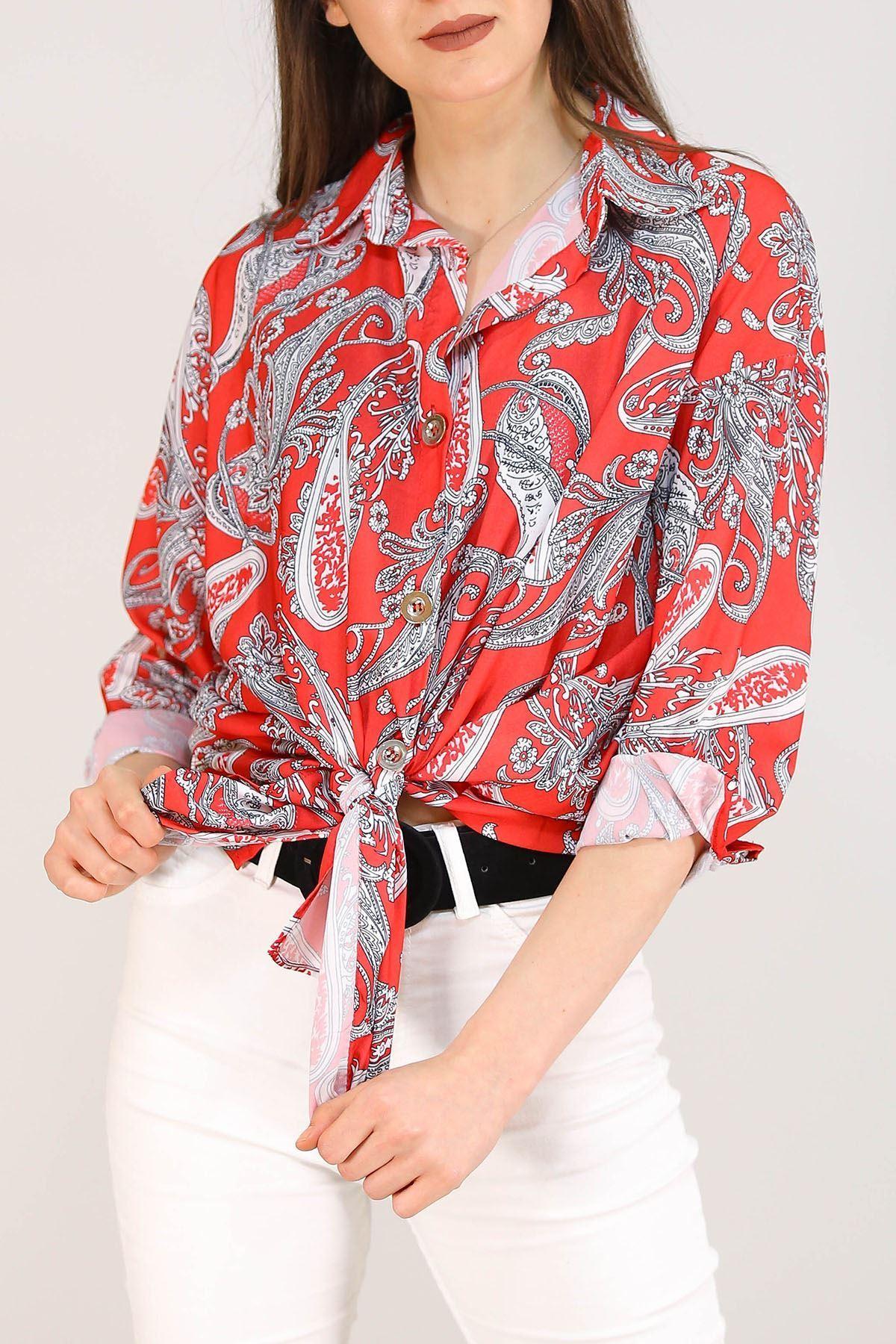 Baskılı Gömlek Kırmızı - 2732.1292.