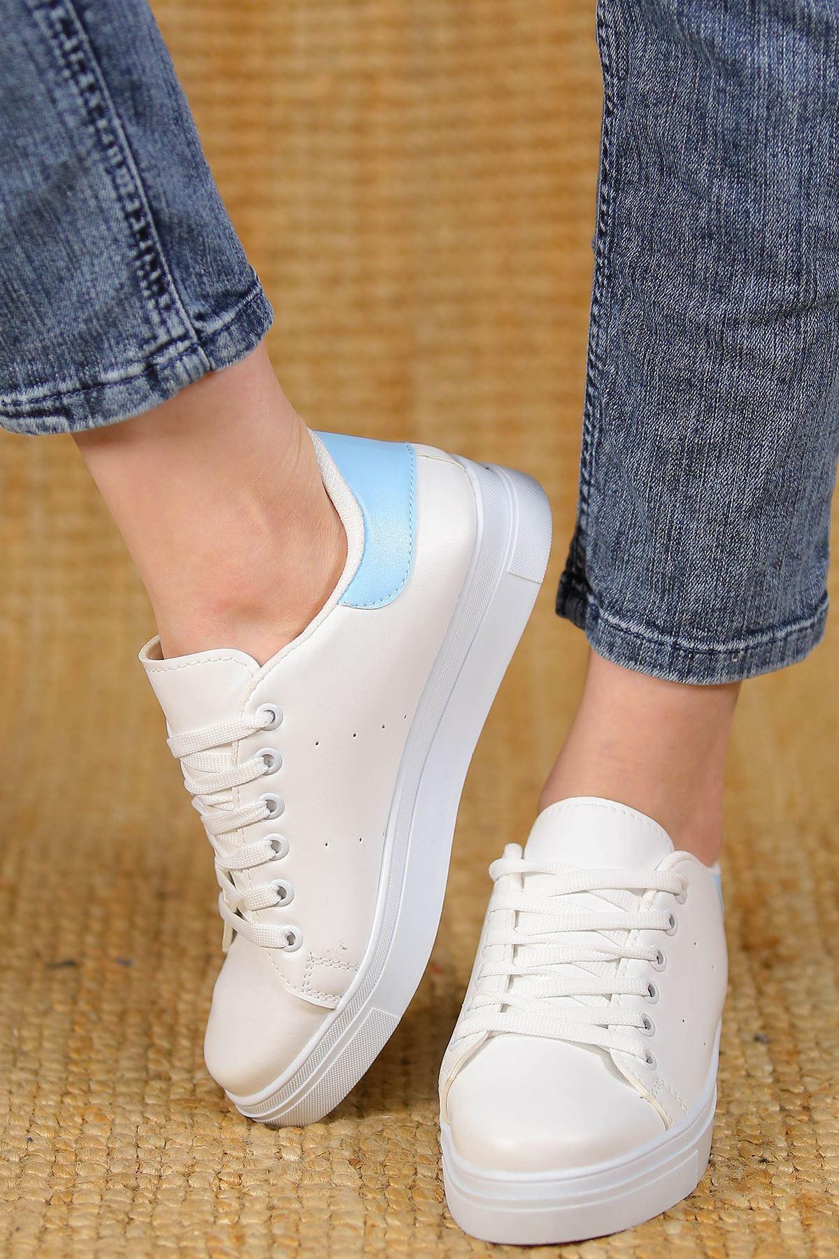 Kalın Tbn Günlük Ayakkabı Beyazmavi - 8585.264.