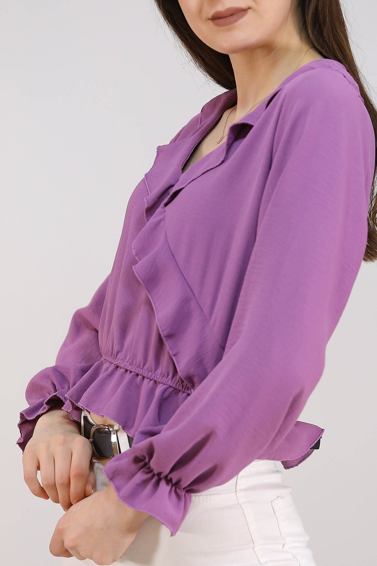 Kadın Dokuma Bluz Lila - 5271.224.