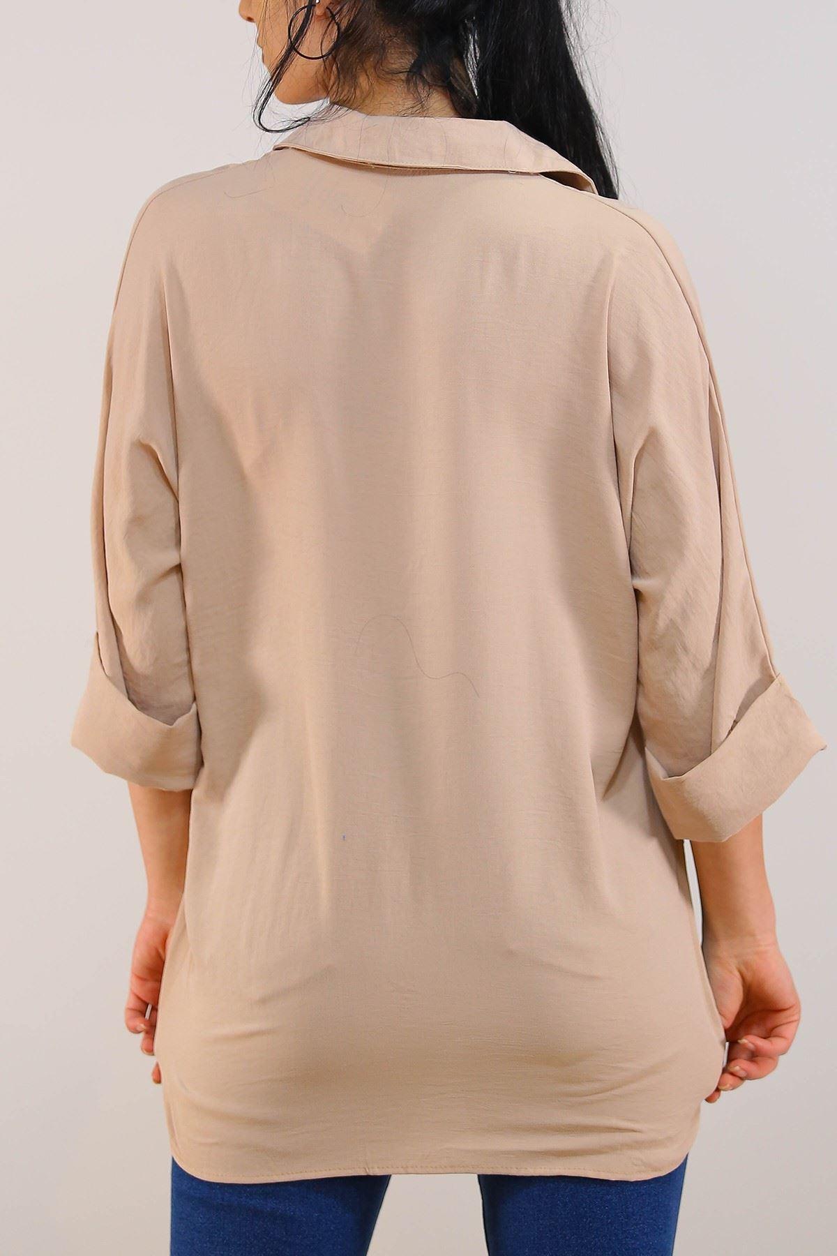 Salaş Kesim Kadın Gömlek Taş - 3339.222.