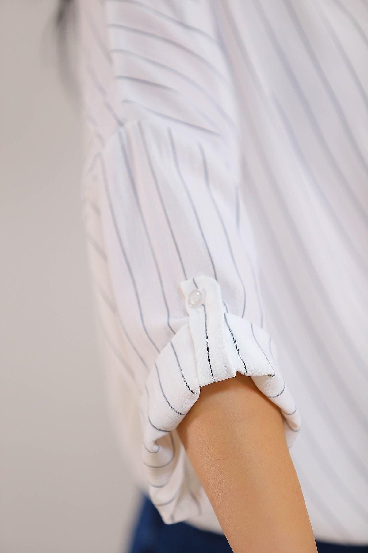 Salaş Gömlek Beyazçizgili - 4806.701.