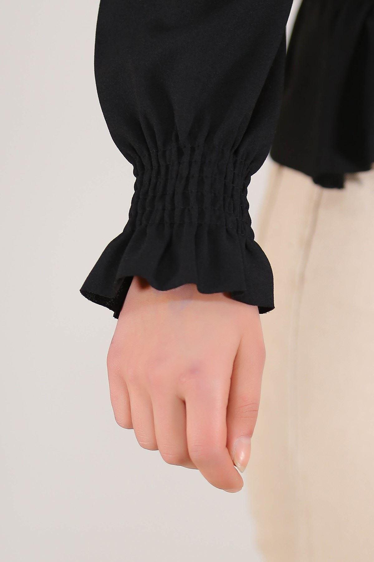 Gipeli Crep Bluz Siyah - 5306.224.