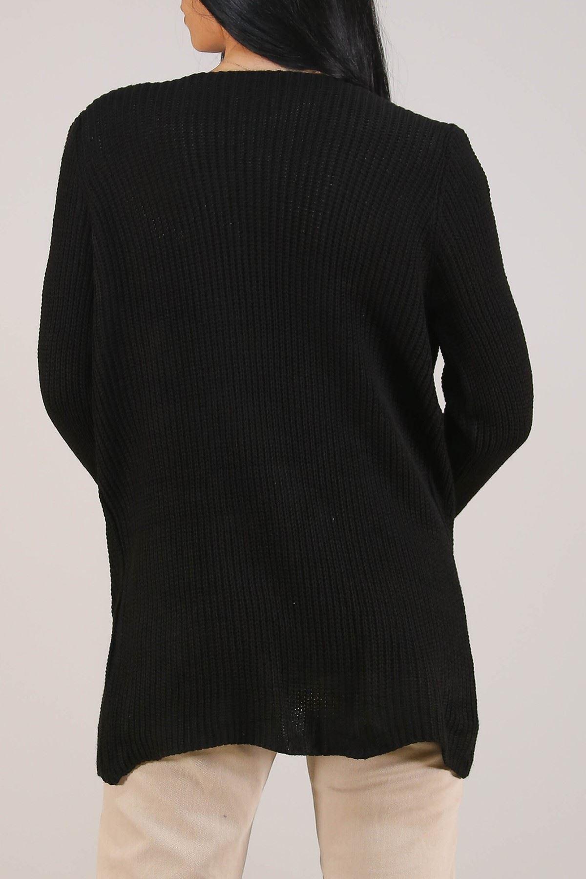 Cepli Triko Hırka Siyah - 5304.344.
