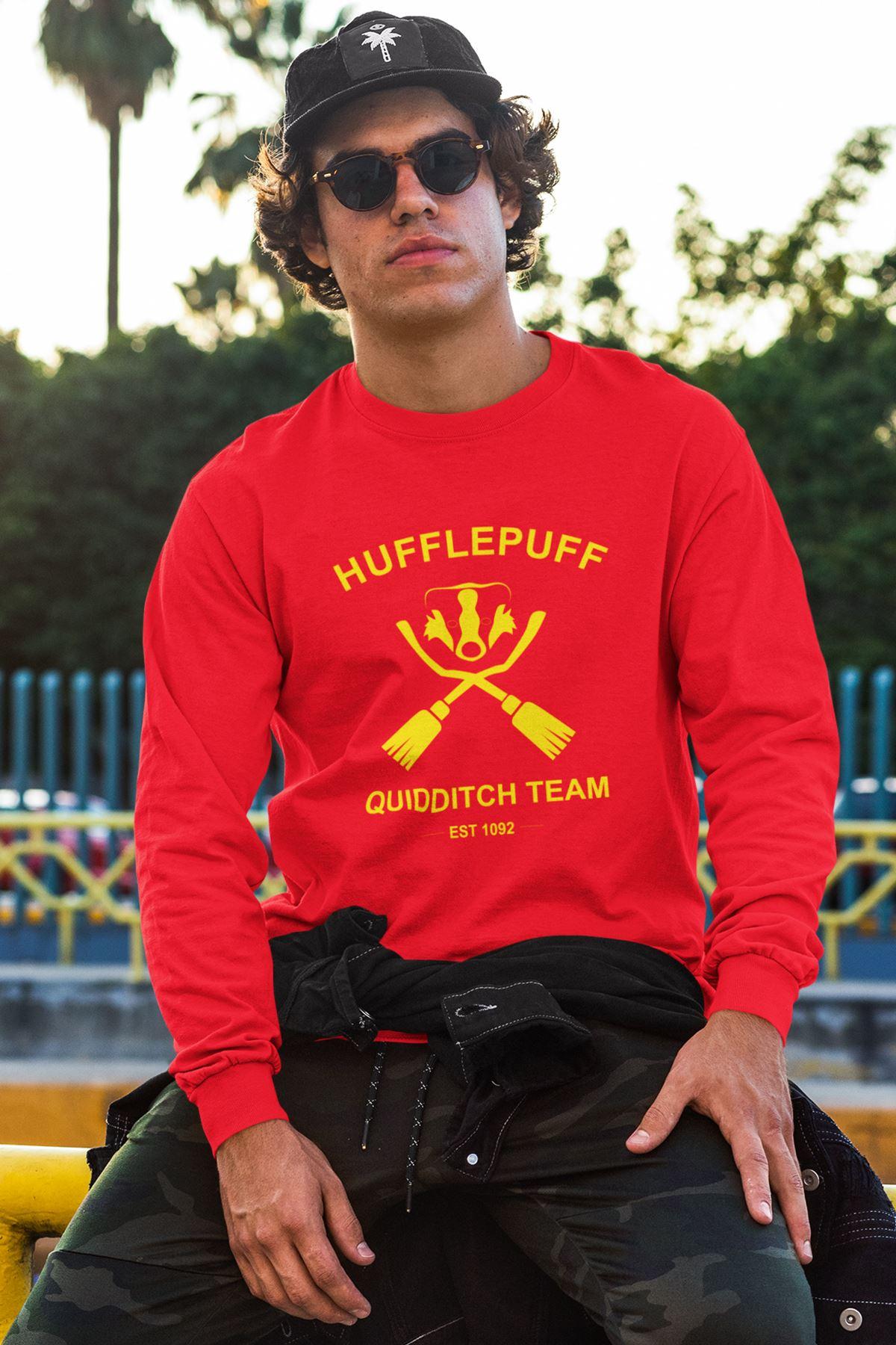 Harry Potter Hufflepuff 72 Kırmızı Sweatshirt
