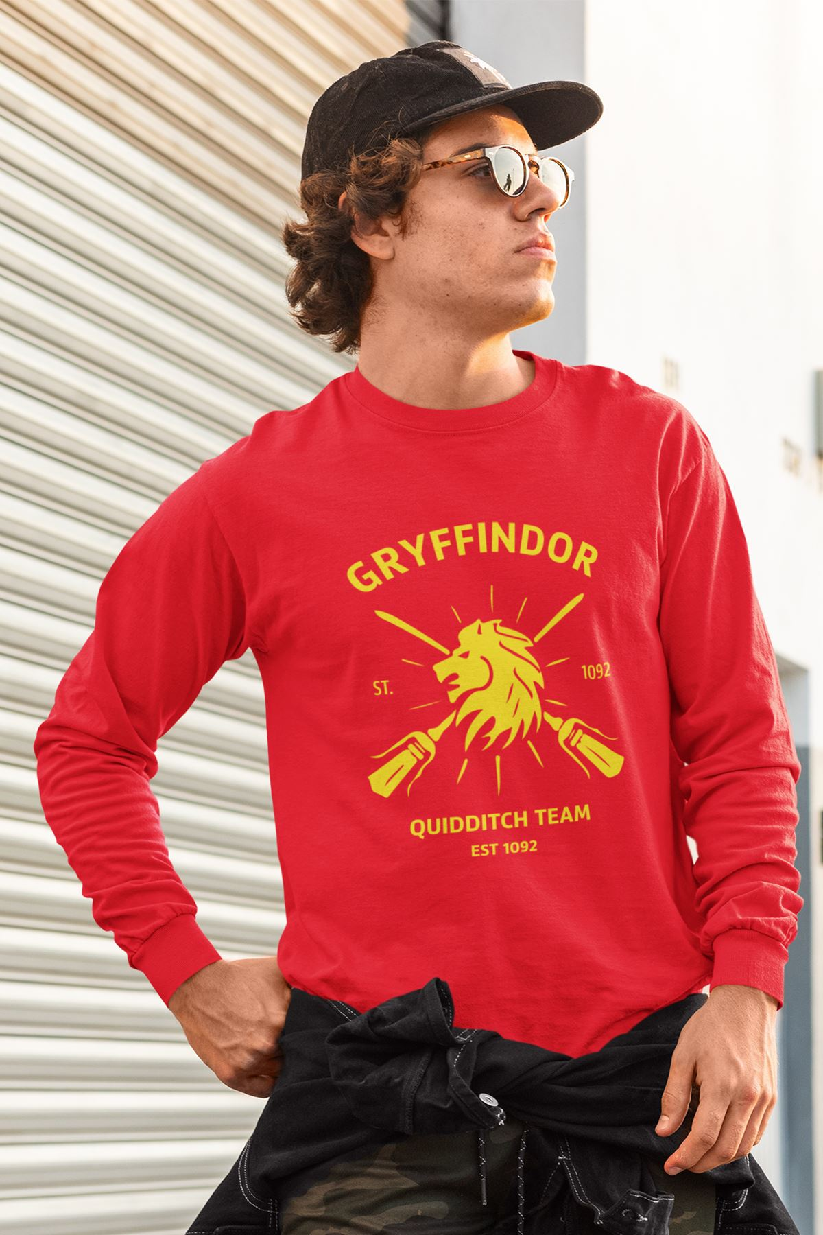 Harry Potter Gryffindor 56 Kırmızı Sweatshirt