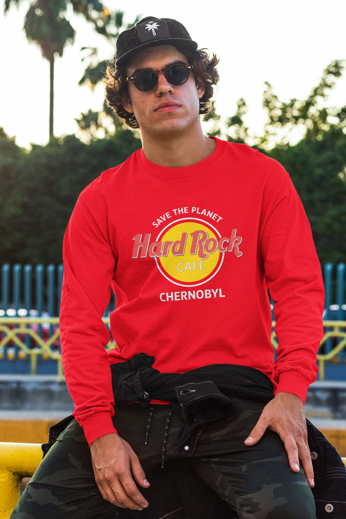 Hard Rock Cafe 58 Kırmızı Sweatshirt