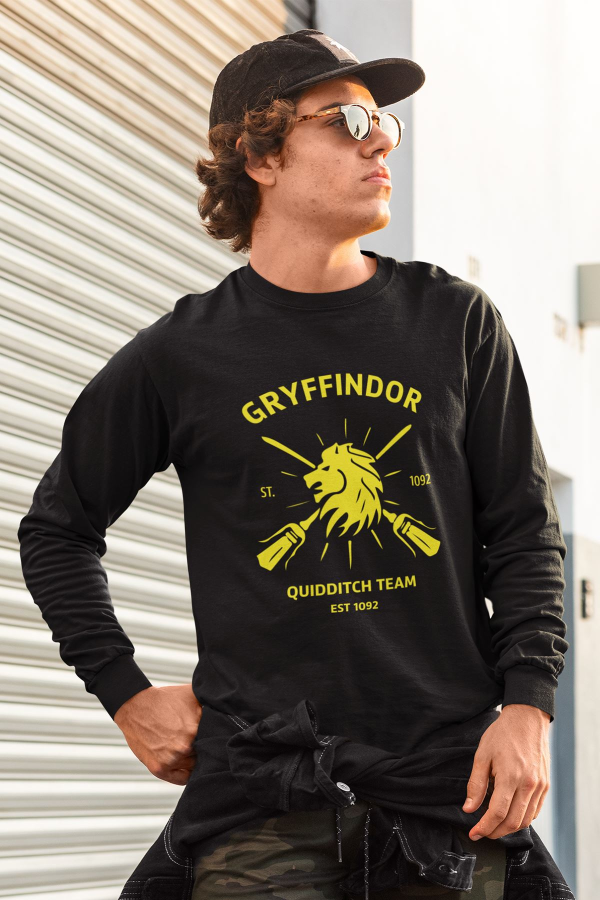 Harry Potter Gryffindor 56 Siyah Sweatshirt