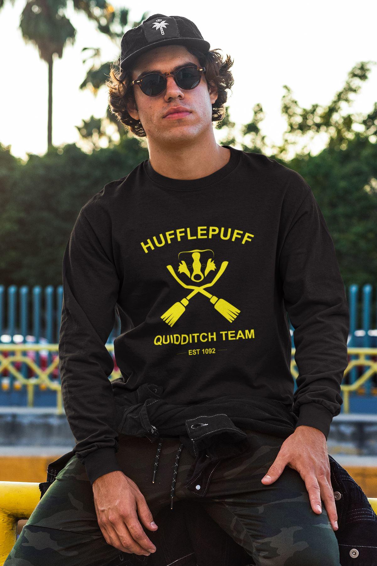 Harry Potter Hufflepuff 72 Siyah Sweatshirt