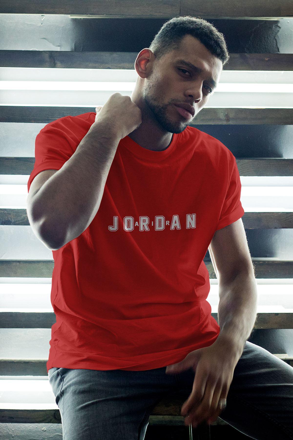 JumpMan 169 Kırmızı Erkek Oversize Tshirt - Tişört