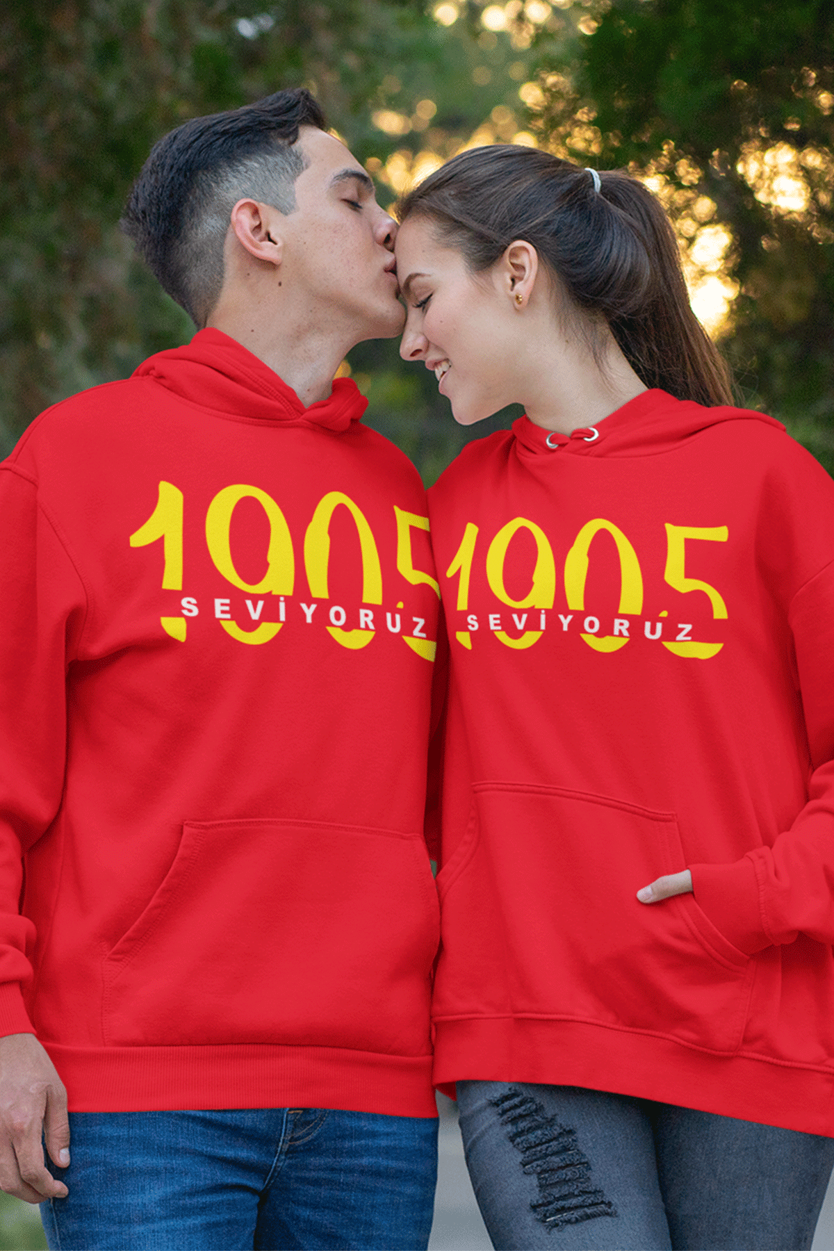 Sevgili Kombini GS 02 Kırmızı  Kapşonlu Sweatshirt - Tek Ürün Fiyatıdır.