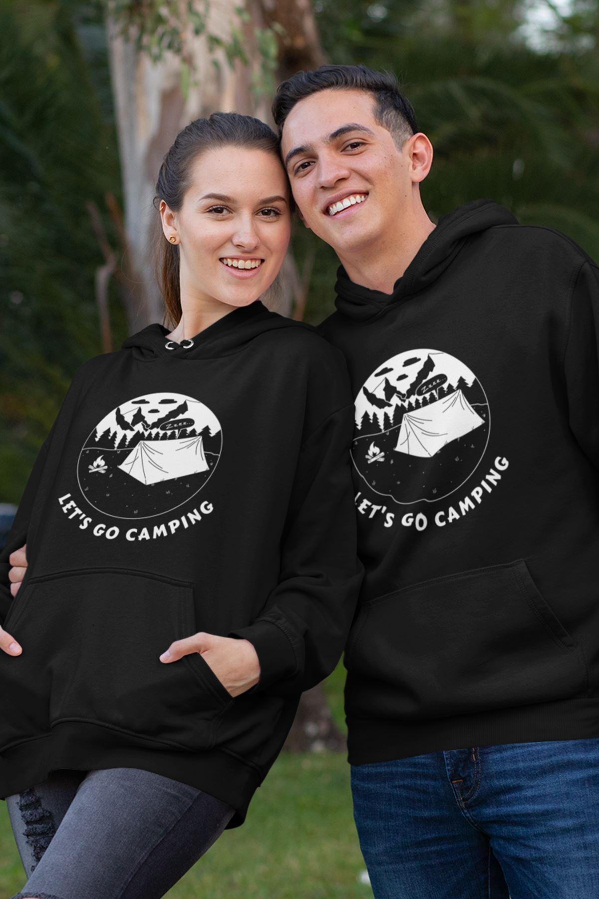 Sevgili Kombini Camping 03 Siyah Kapşonlu Sweatshirt - Tek Ürün Fiyatıdır.