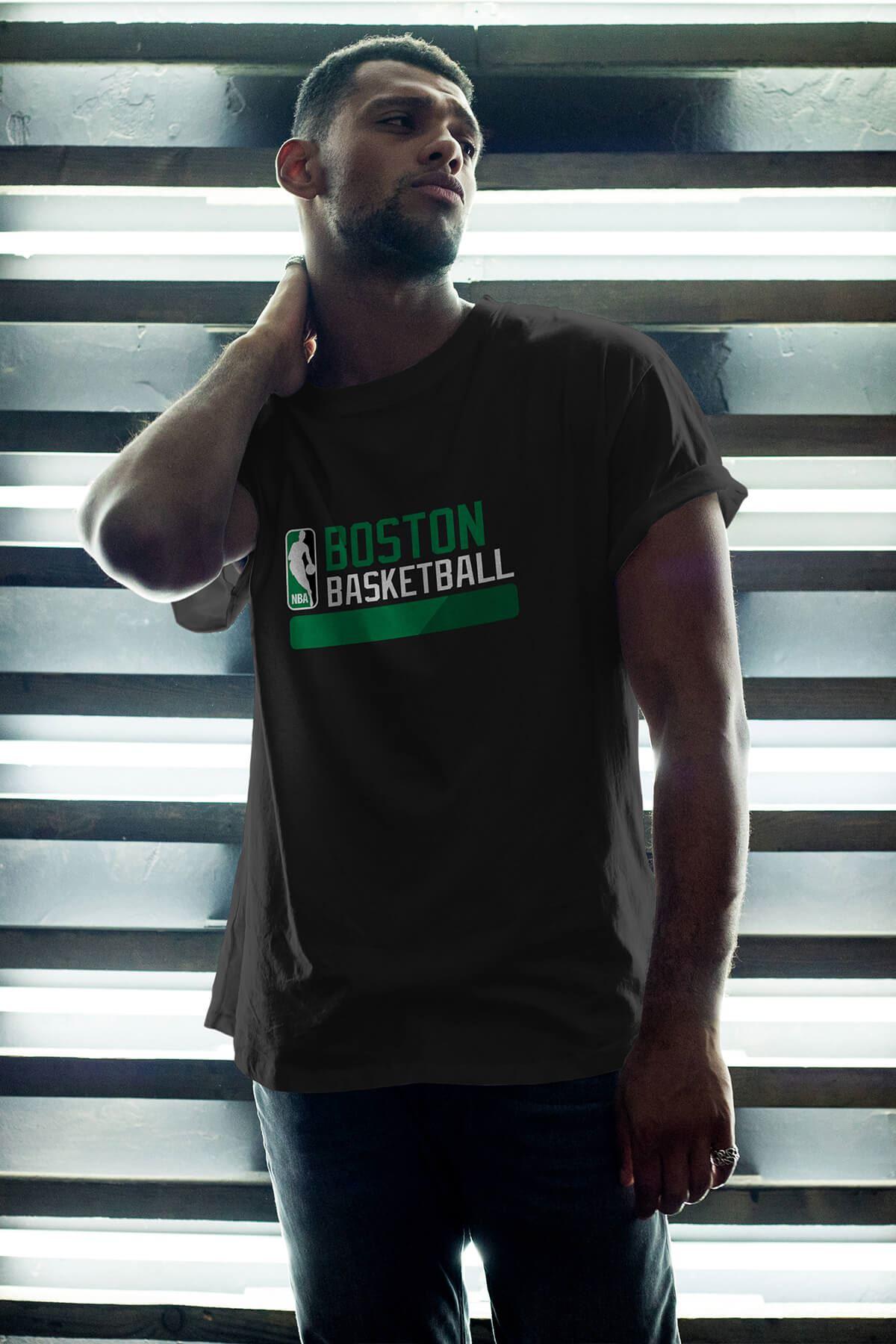 Boston Celtics 26 Siyah Erkek Oversize Tshirt - Tişört