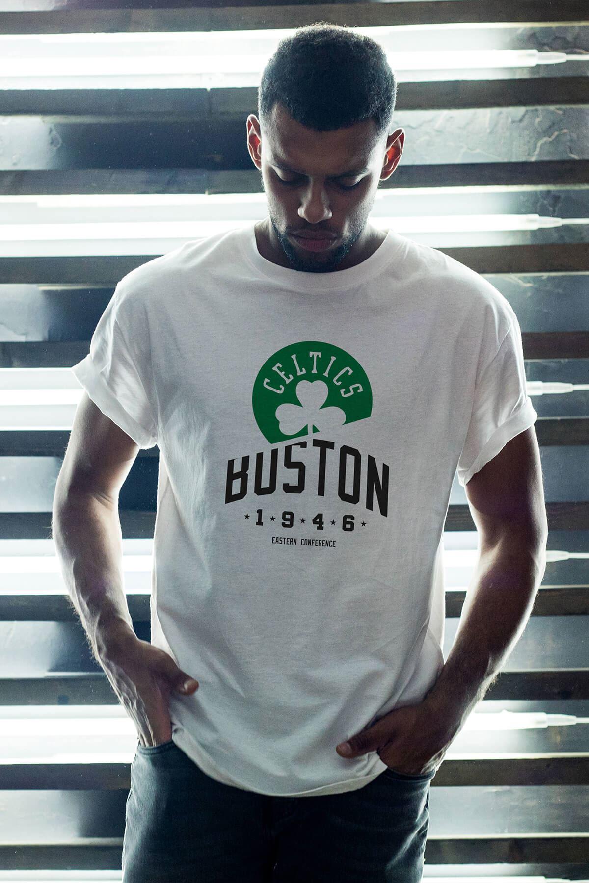 Boston Celtics 24 Beyaz Erkek Oversize Tshirt - Tişört
