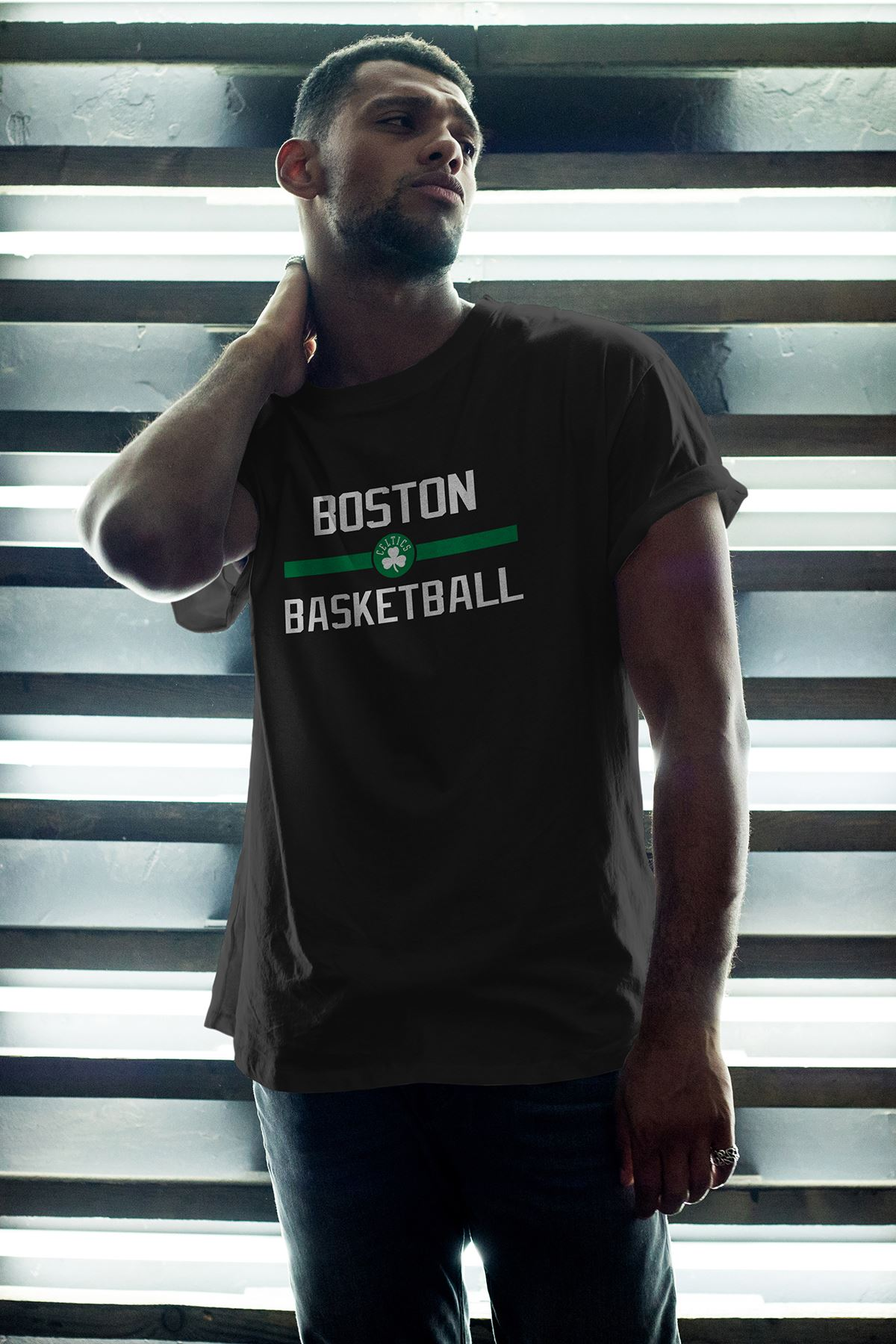 Boston Celtics 31 Siyah Erkek Oversize Tshirt - Tişört