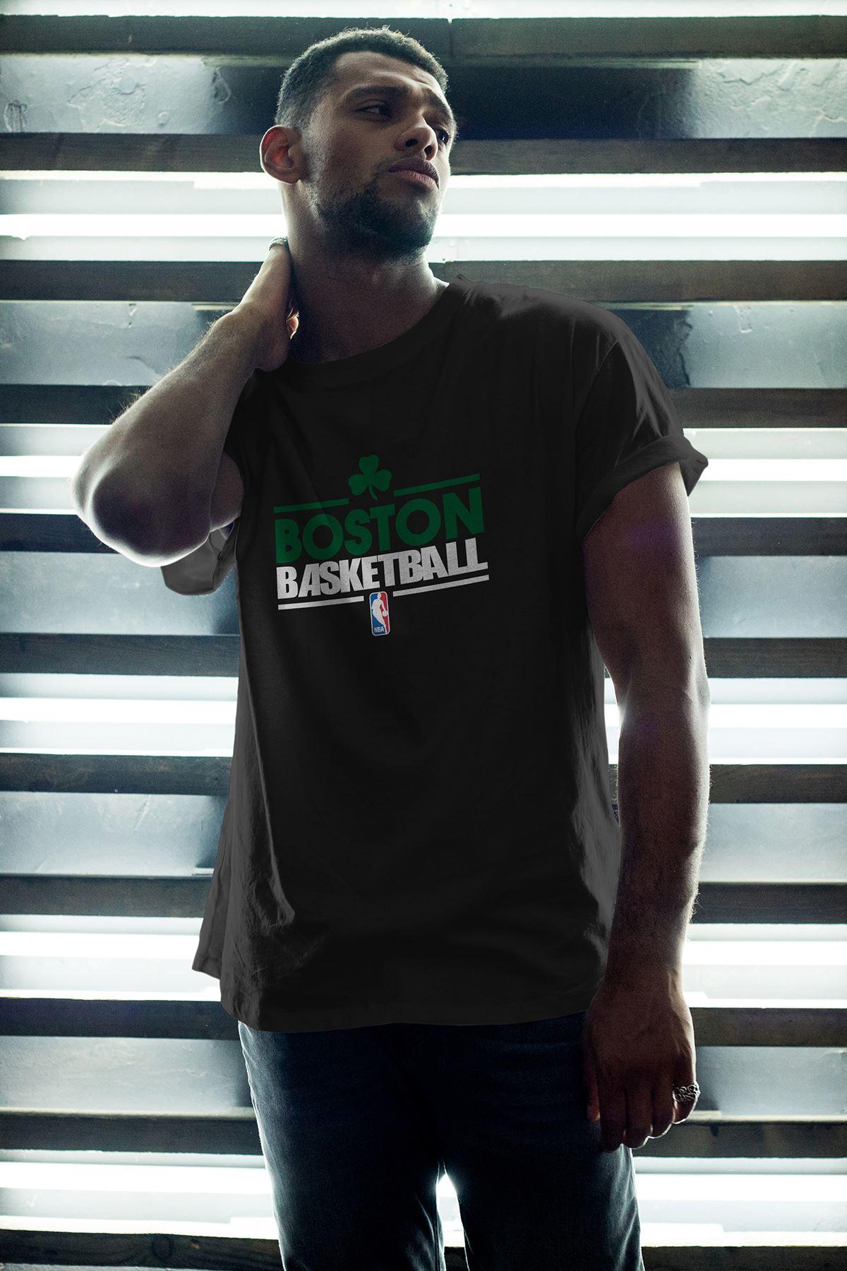 Boston Celtics 34 Siyah Erkek Oversize Tshirt - Tişört