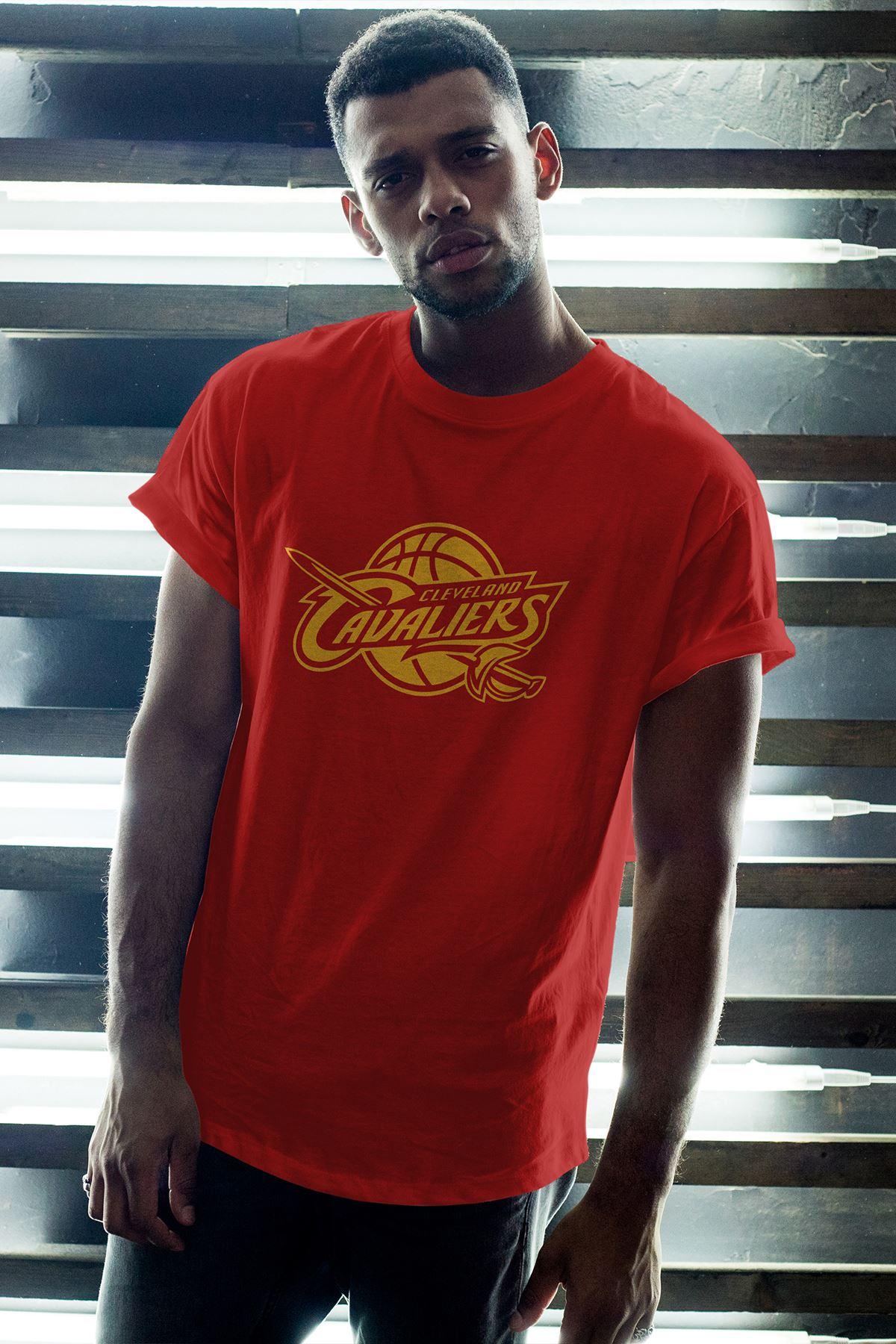 Cleveland 02 Kırmızı Erkek Oversize Tshirt - Tişört